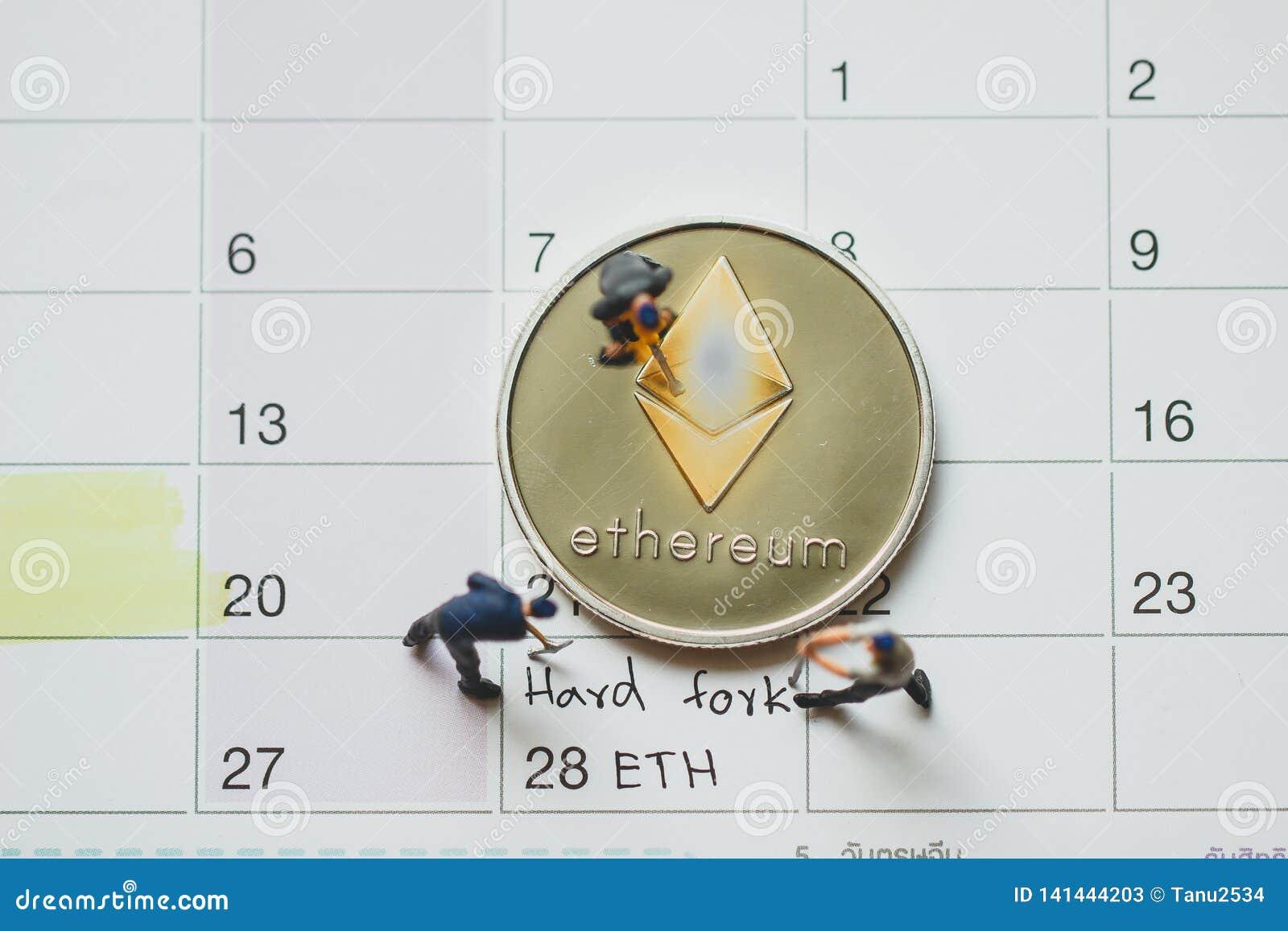 Forquilha dura de Ethereum ETH