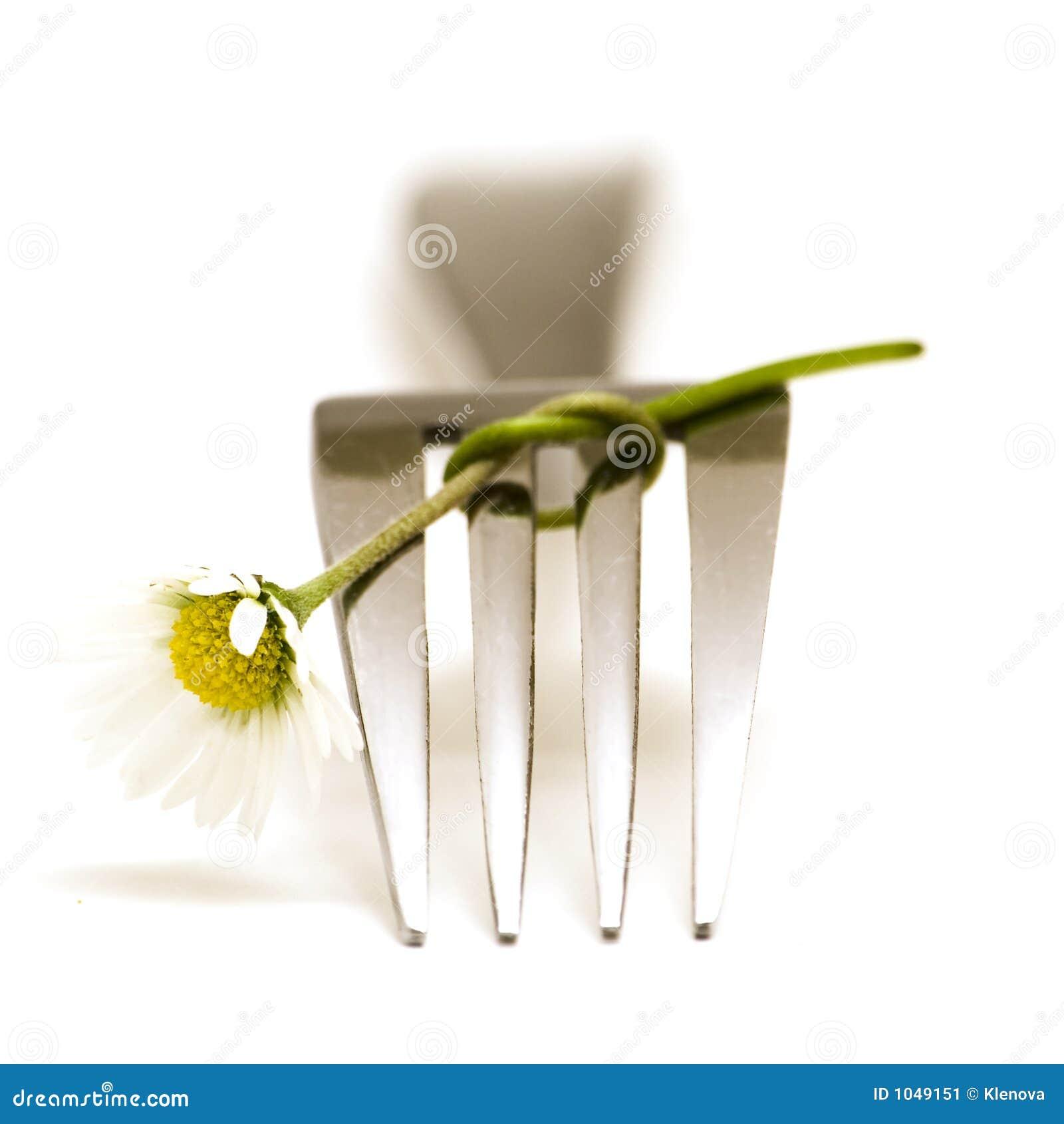 Forquilha e flor
