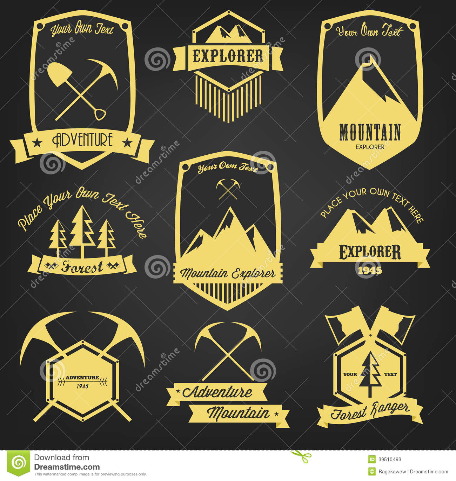 Forscher Adventure Vintage Label
