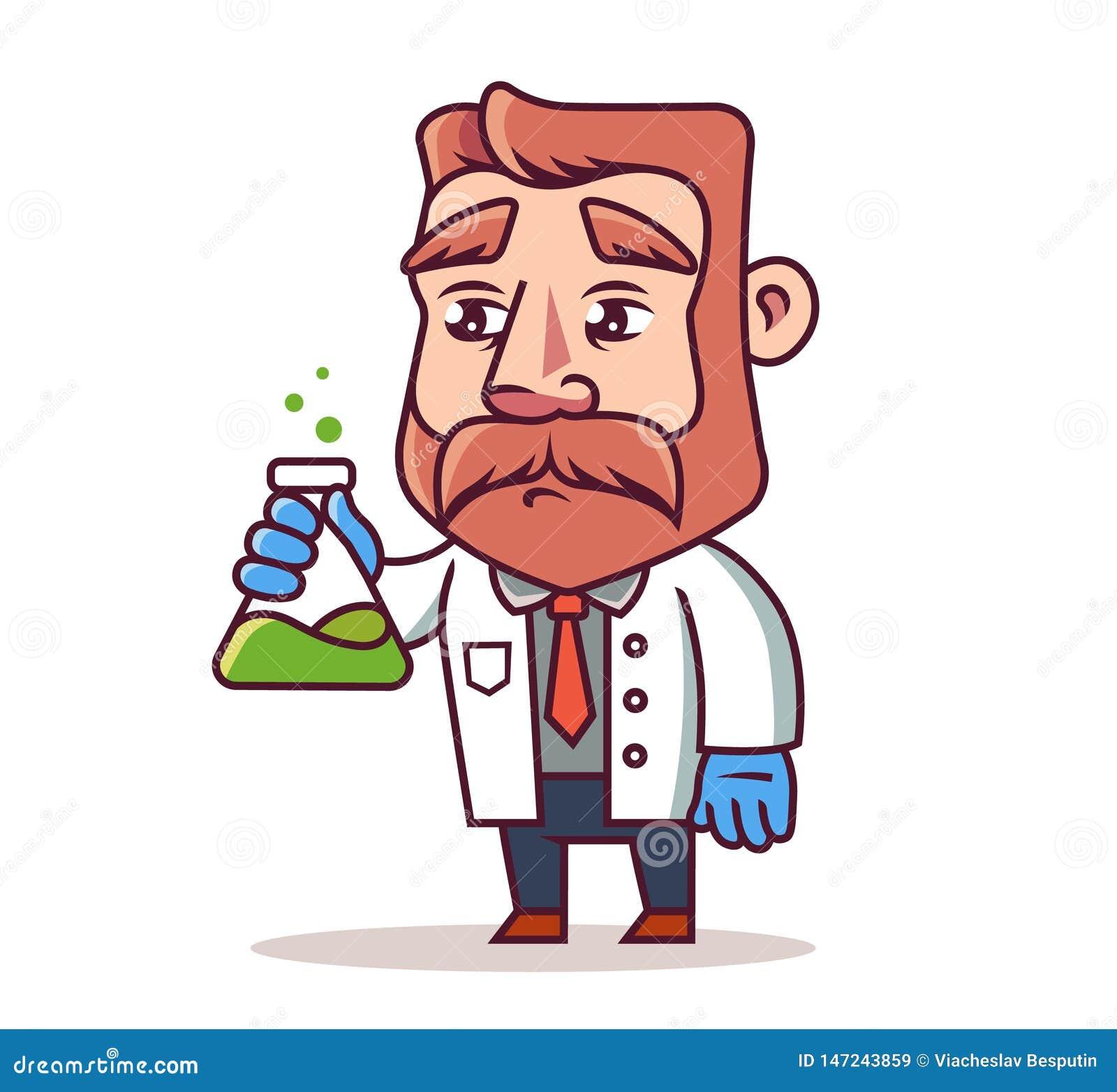 Forskare med en flaska