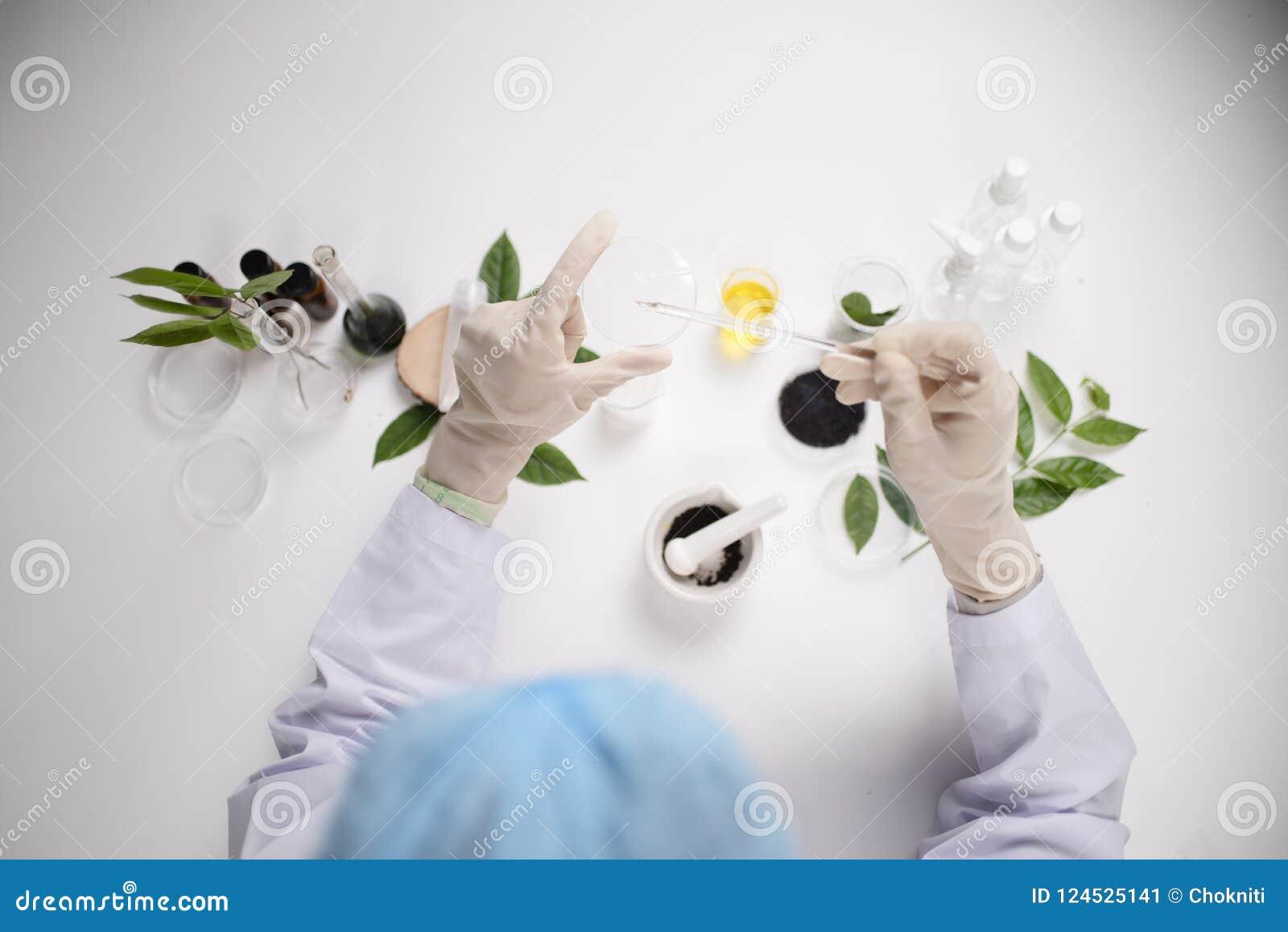 Forskarehälsovård som arbetar i vetenskaperna om olika organismers beskaffenhetlaboratorium Youn