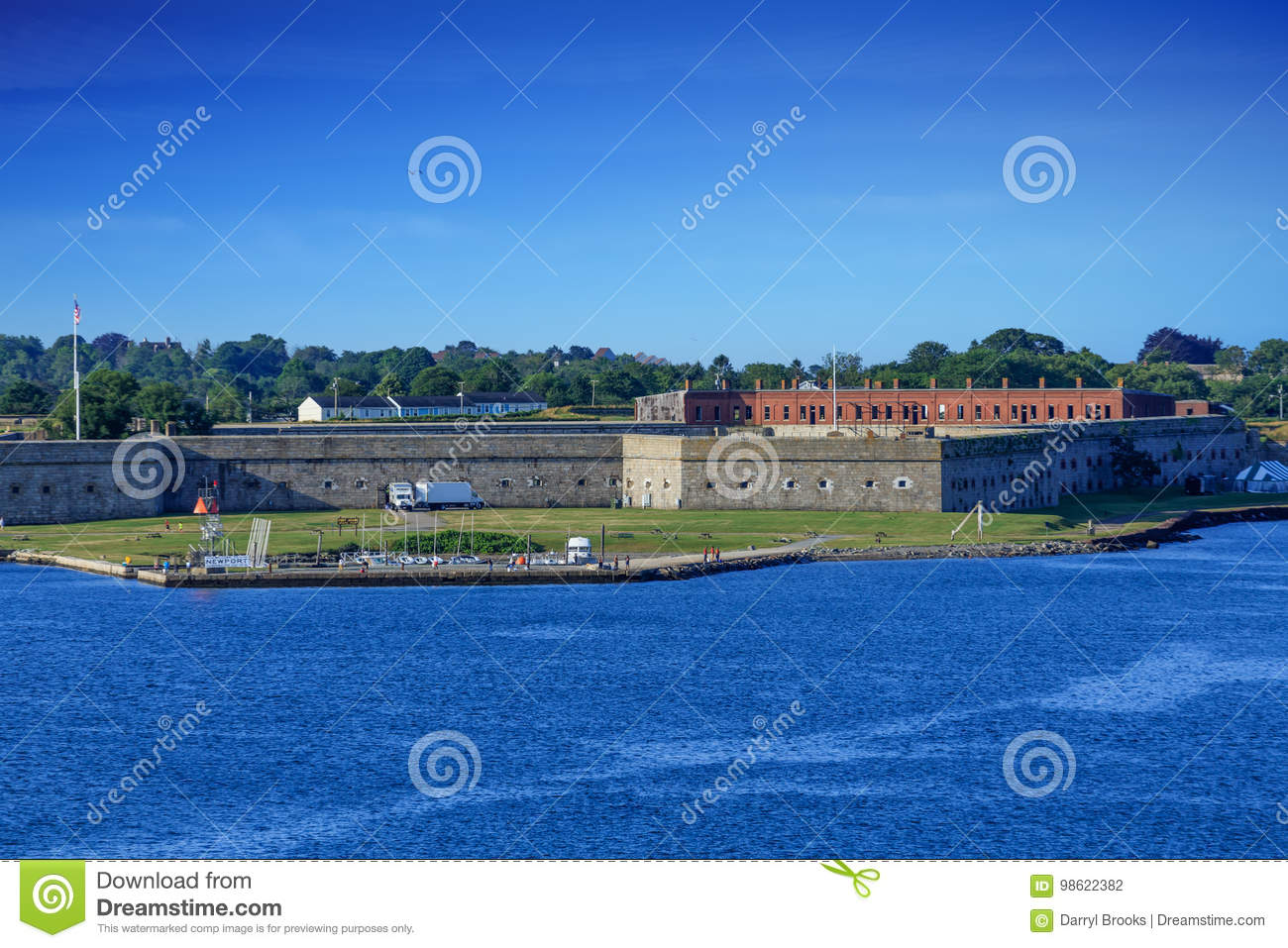 Fort Adams on a Clear Day