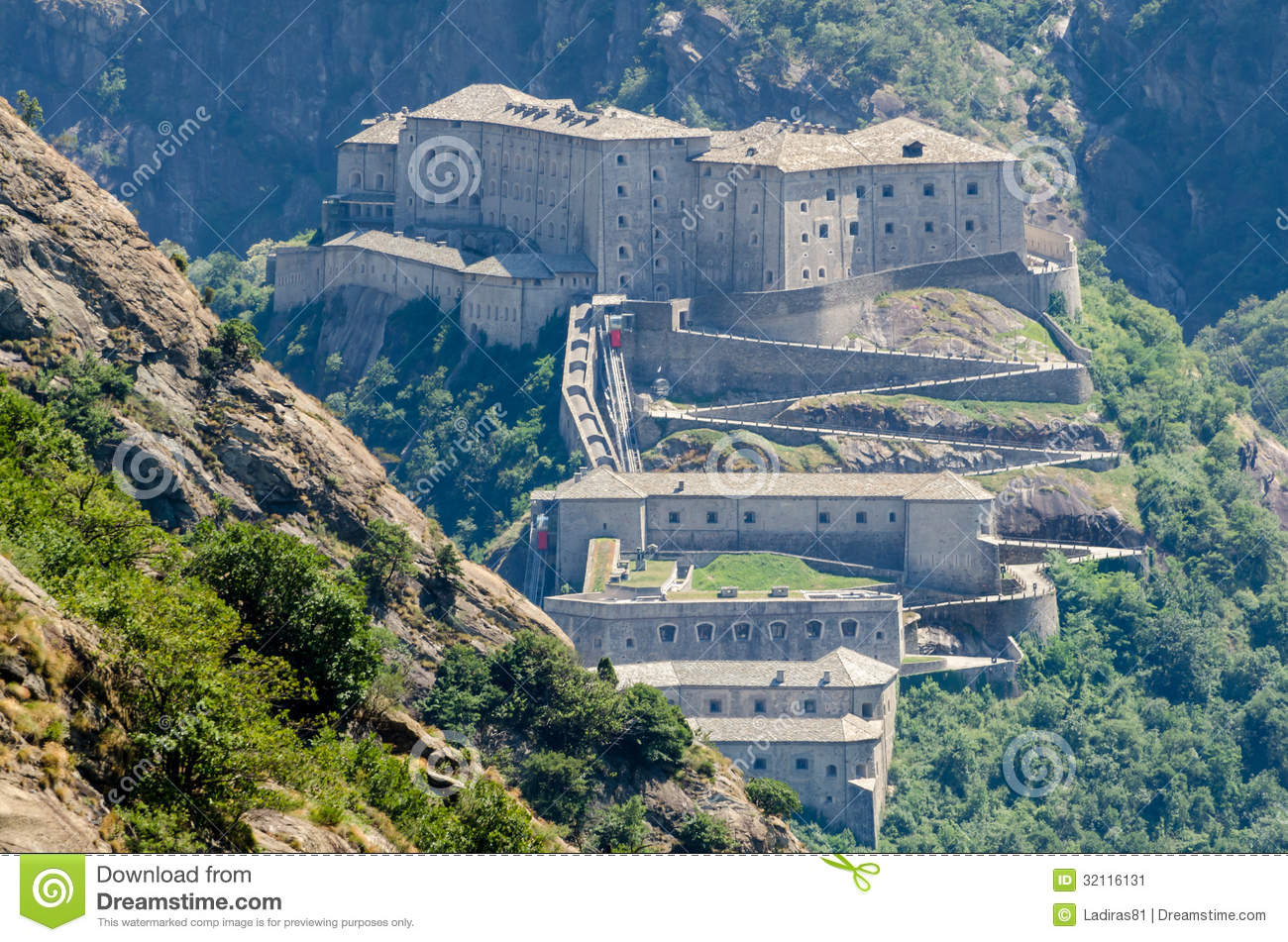 Fort Bard, Aosta Valley Stock Image