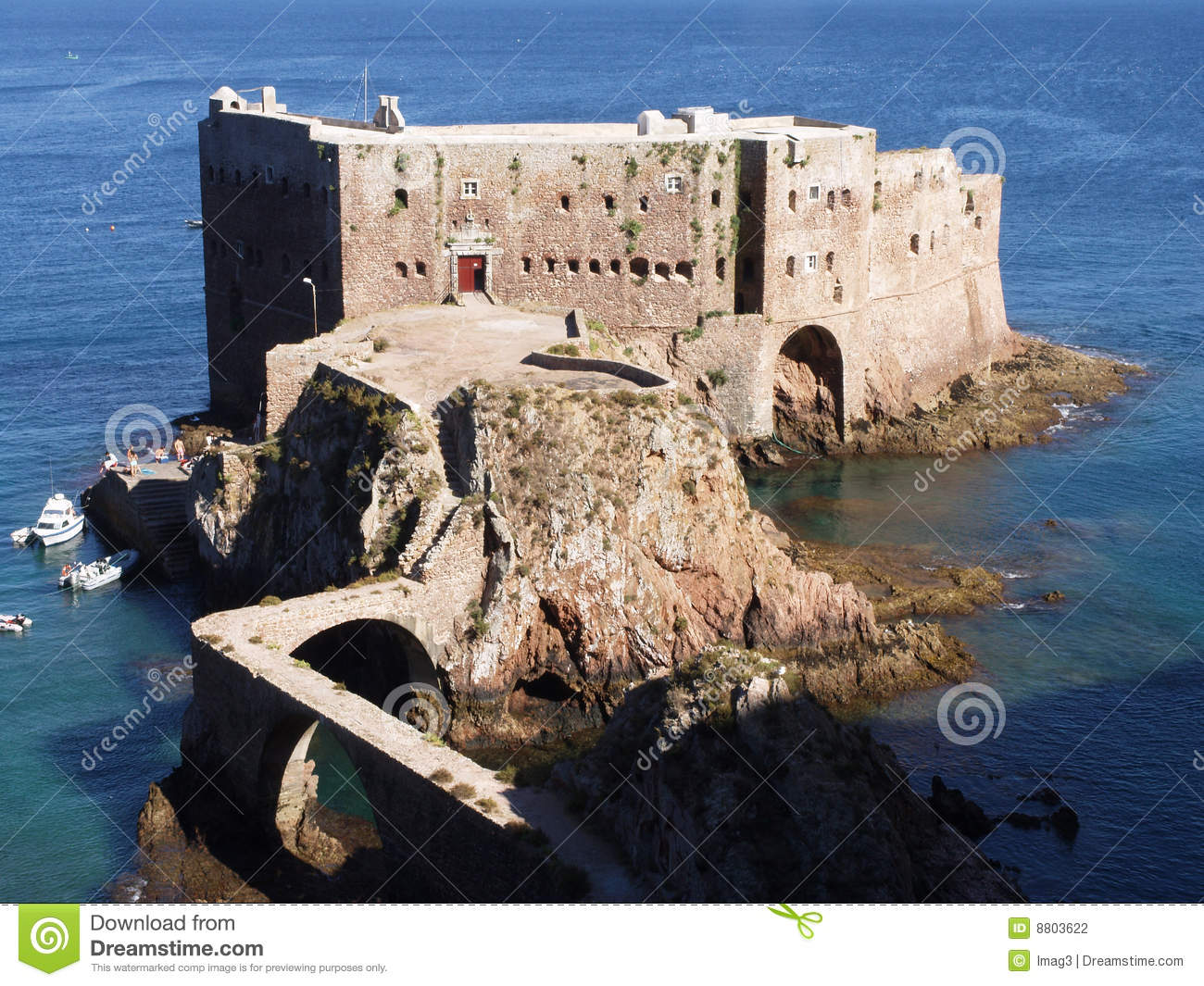 Fort Berlenga Grande Island Portugal Stock Photography