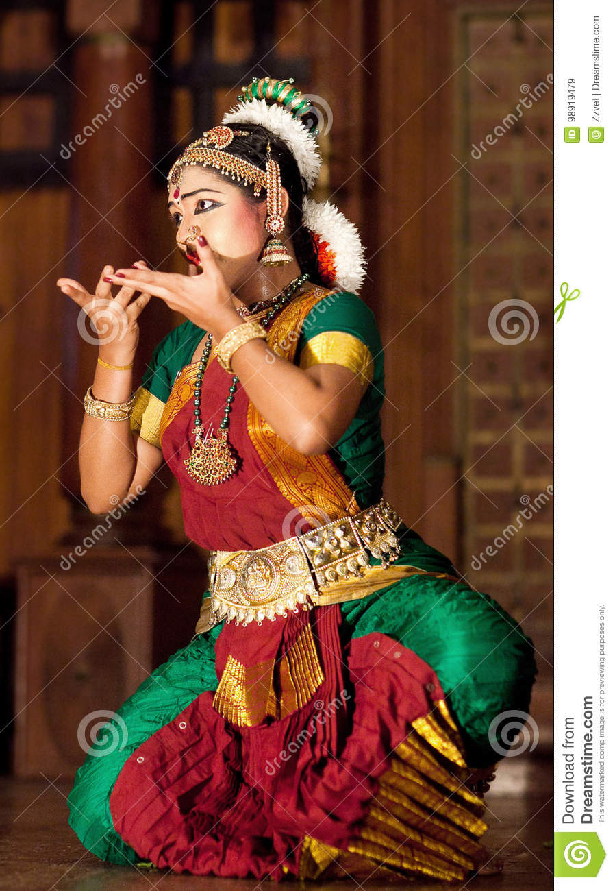 Indian Girl Dancing Kuchipudi Dance Editorial Stock Image -3535