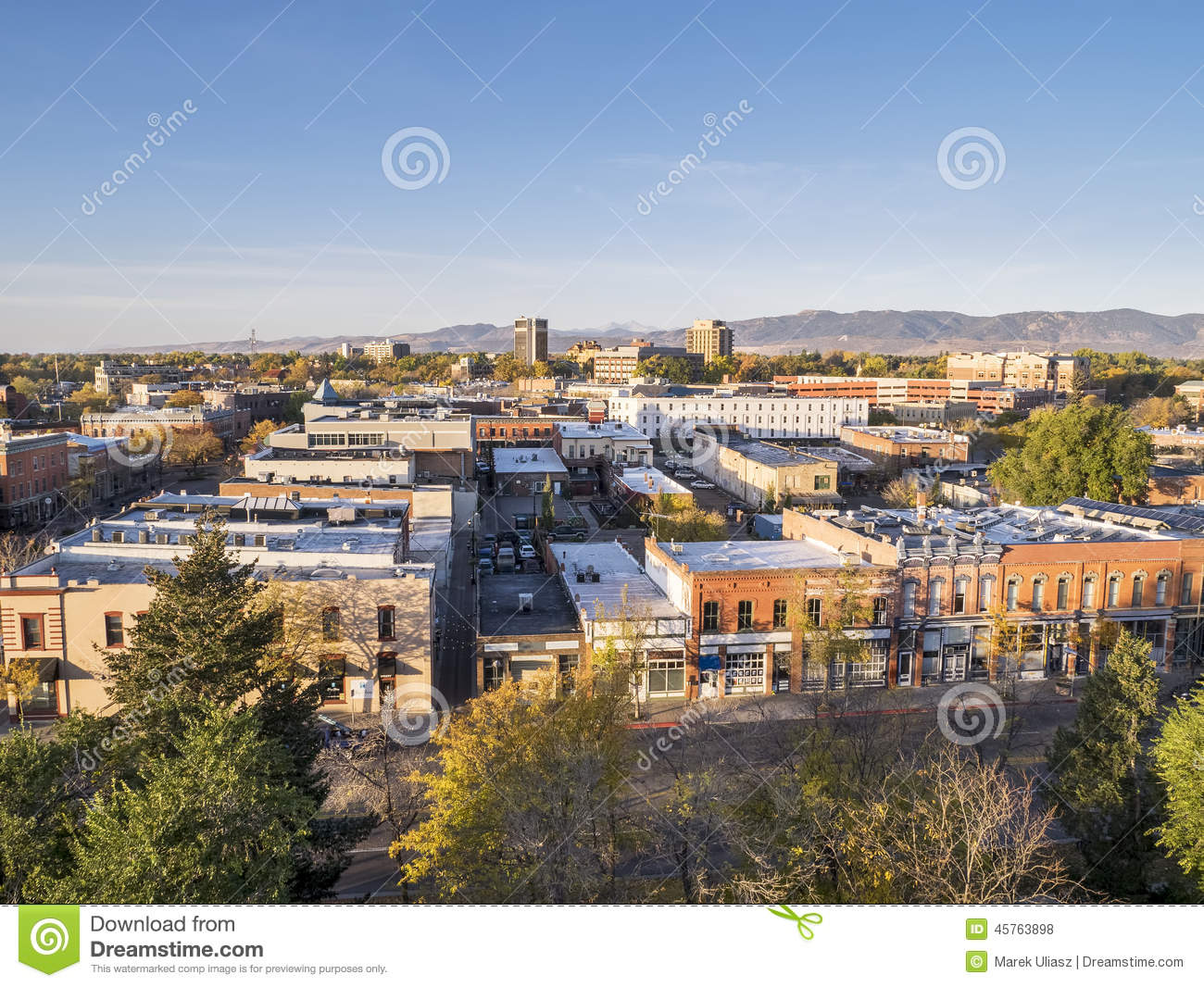 Fort collins downtown stock photo image 45763898 - Olive garden fort collins colorado ...