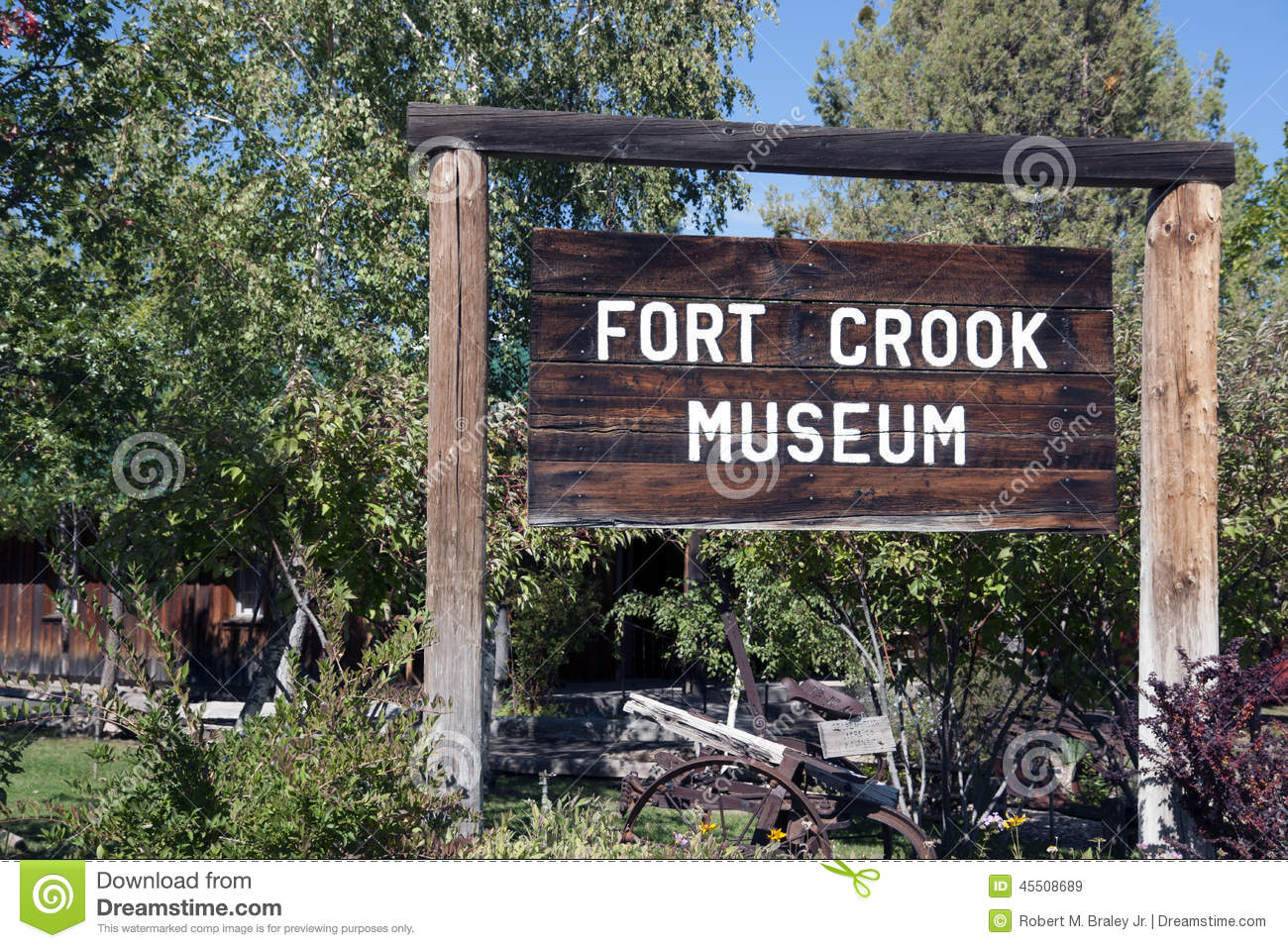 Fort Crook Museum Sign