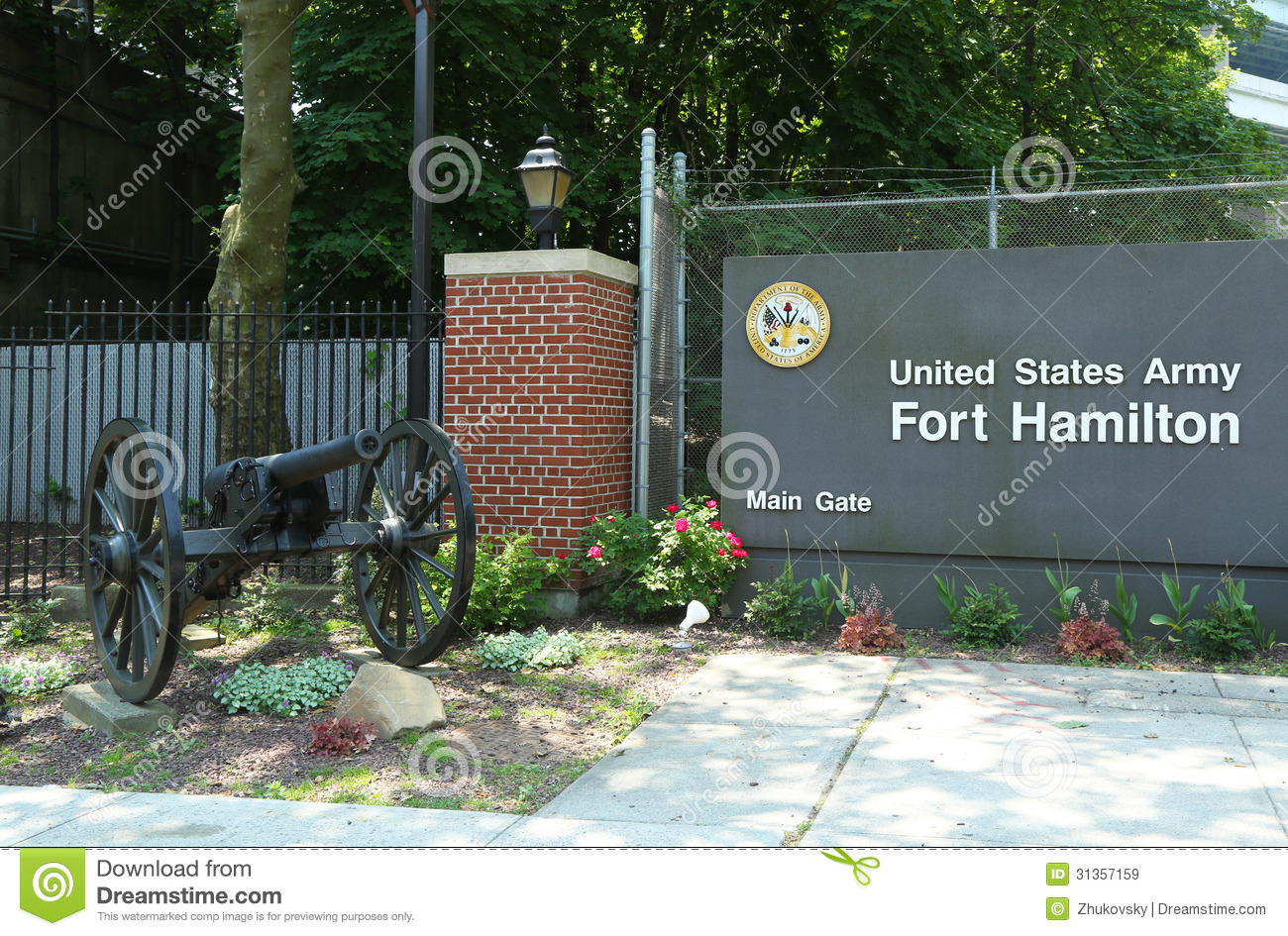 Fort Hamilton US Army Base In Brooklyn, NY Royalty Free Stock Images ...