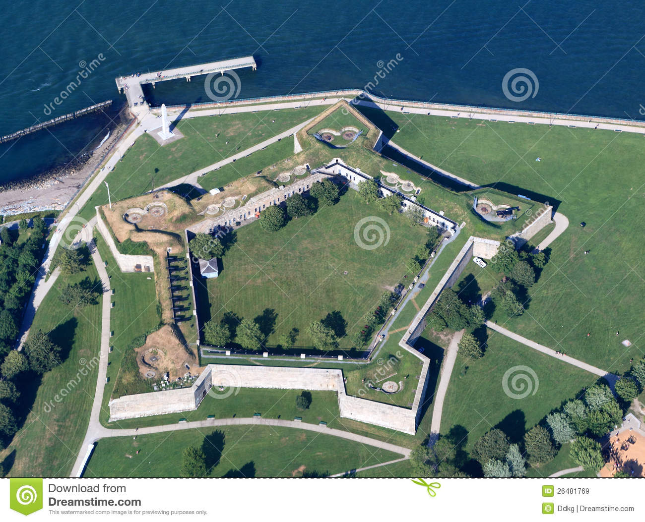 fort independence boston stock image image of historical
