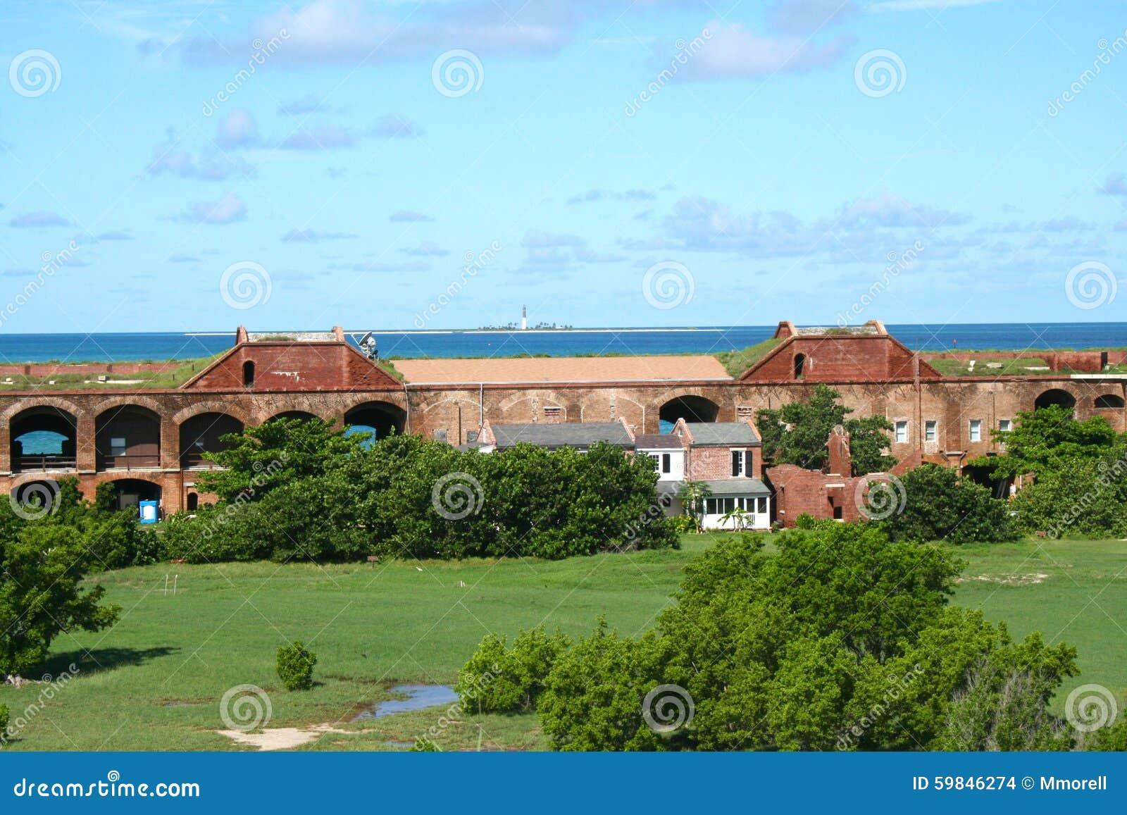 Fort Jefferson, Innere Wand, Häuser Und Hof, Trockenes Tortugas ...