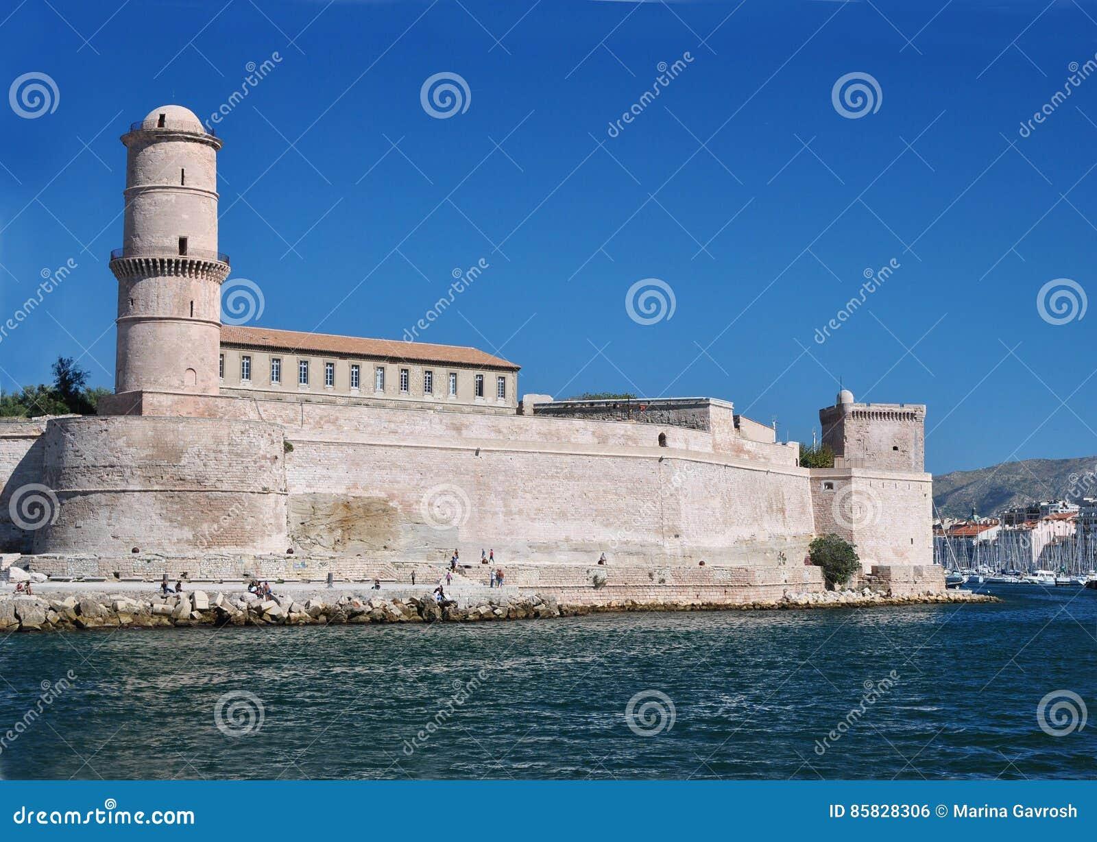 Fort Johannes im Hafen von Marseille, Frankreich: mittelalterliche Festung zu Ehren Johannes von Jerusalem, errichtet im 15. Jahr