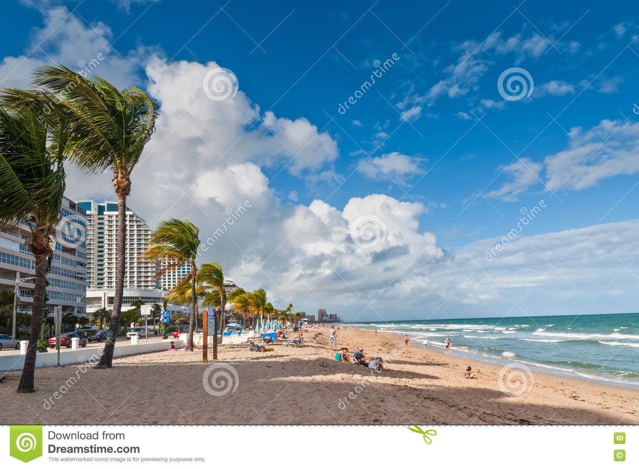 Fort lauderdale beach restoration editorial photo for Warm vacations in march