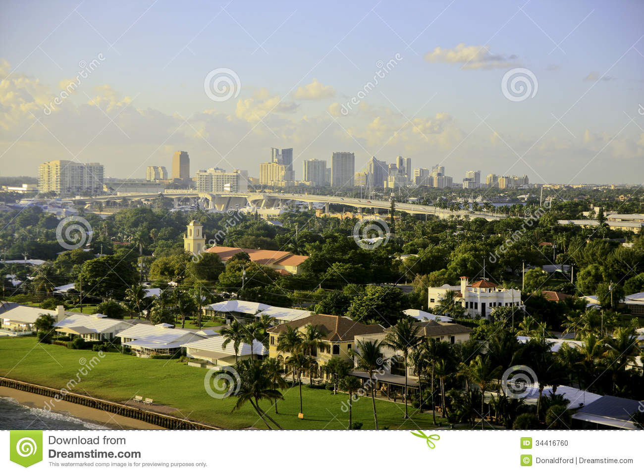 Fort lauderdale florida usa skyline stock photo image Luxury home builders usa