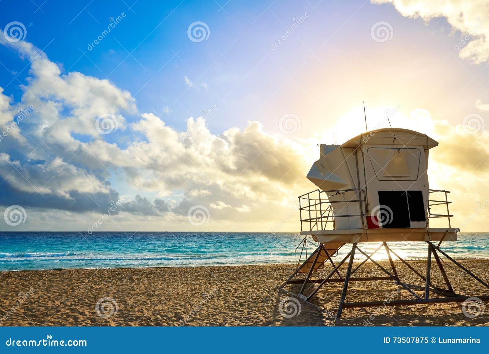 Fort Lauderdalestrandsoluppgång Florida USA