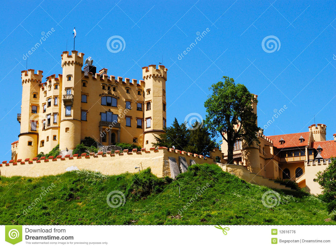 Fort Near Neuschwanstein Castle In Bavaria Royalty Free
