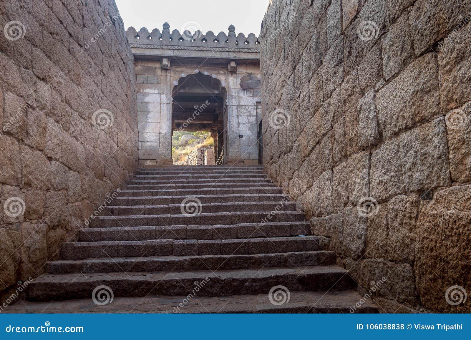 Fort przy chitradurga architekturą Karnataka