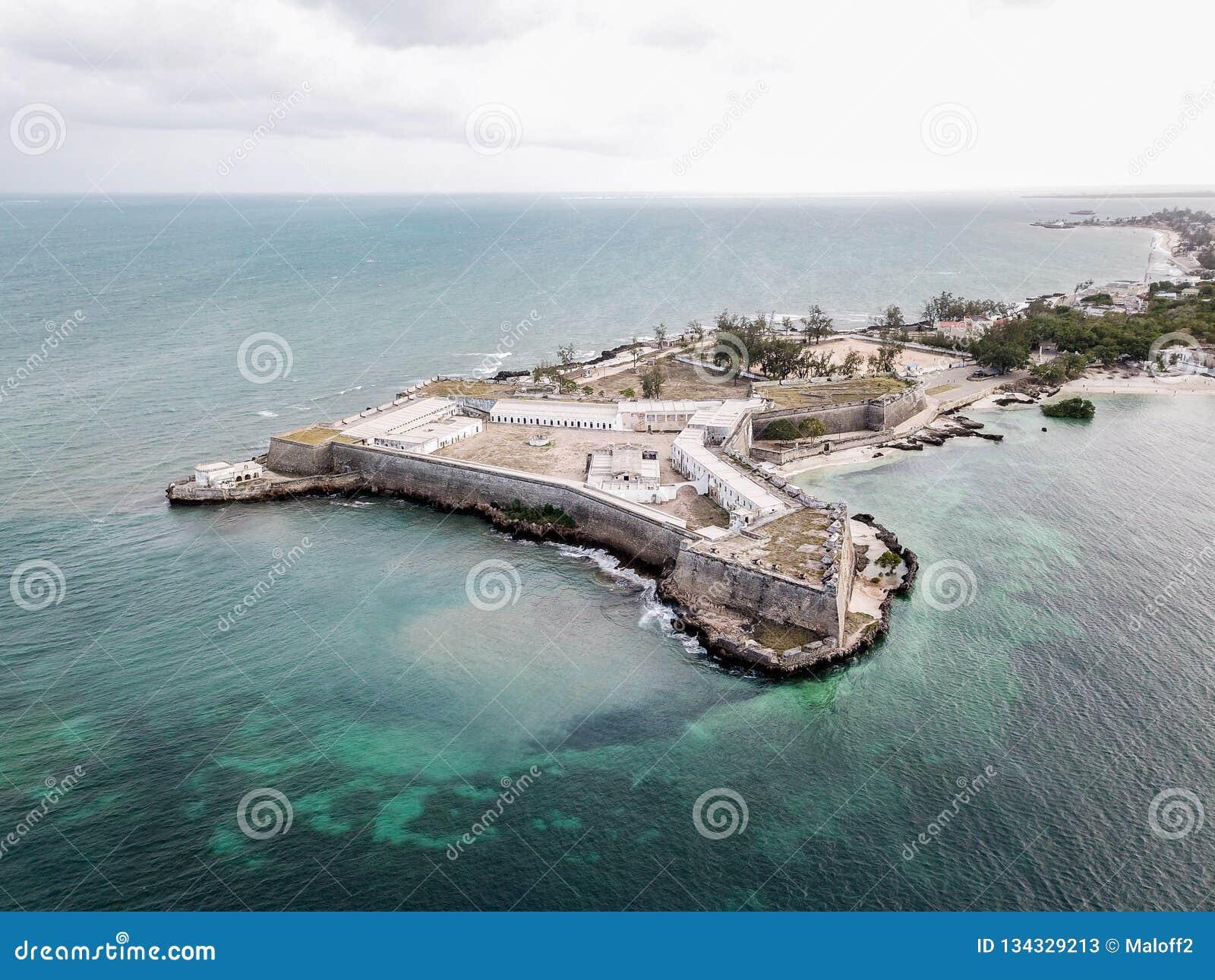 Fort San Sebastian Sao Sebastiao, Mosambik-Insel Ilha de Mocambique, Mossuril-Bucht Küste des Indischen Ozeans, Nampula-Provinz