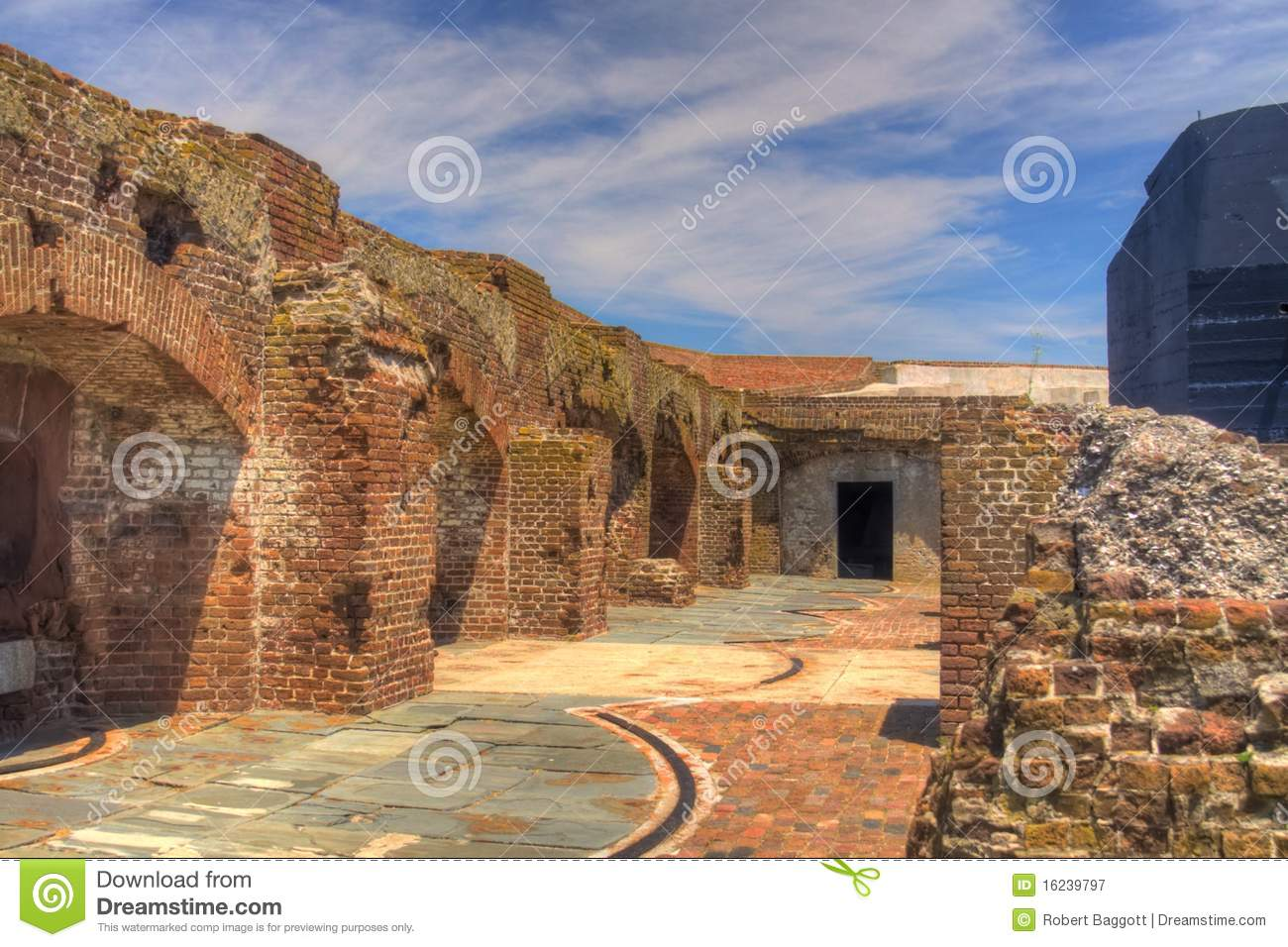 Fort Sumter Battle Damage Royalty Free Stock Photography