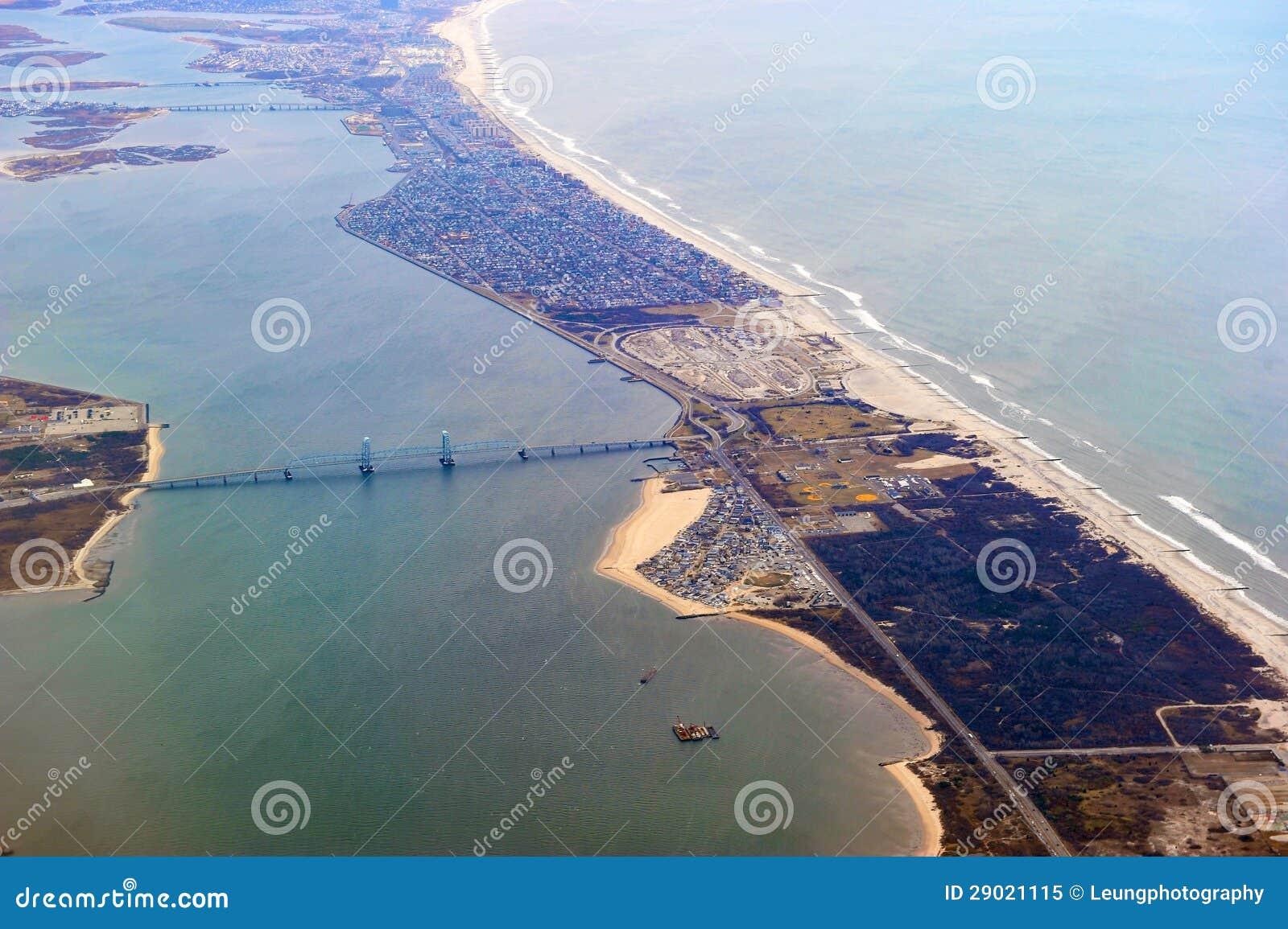 Fort Tilden, Belle Harbor, Rockaways Aerial Editorial ...