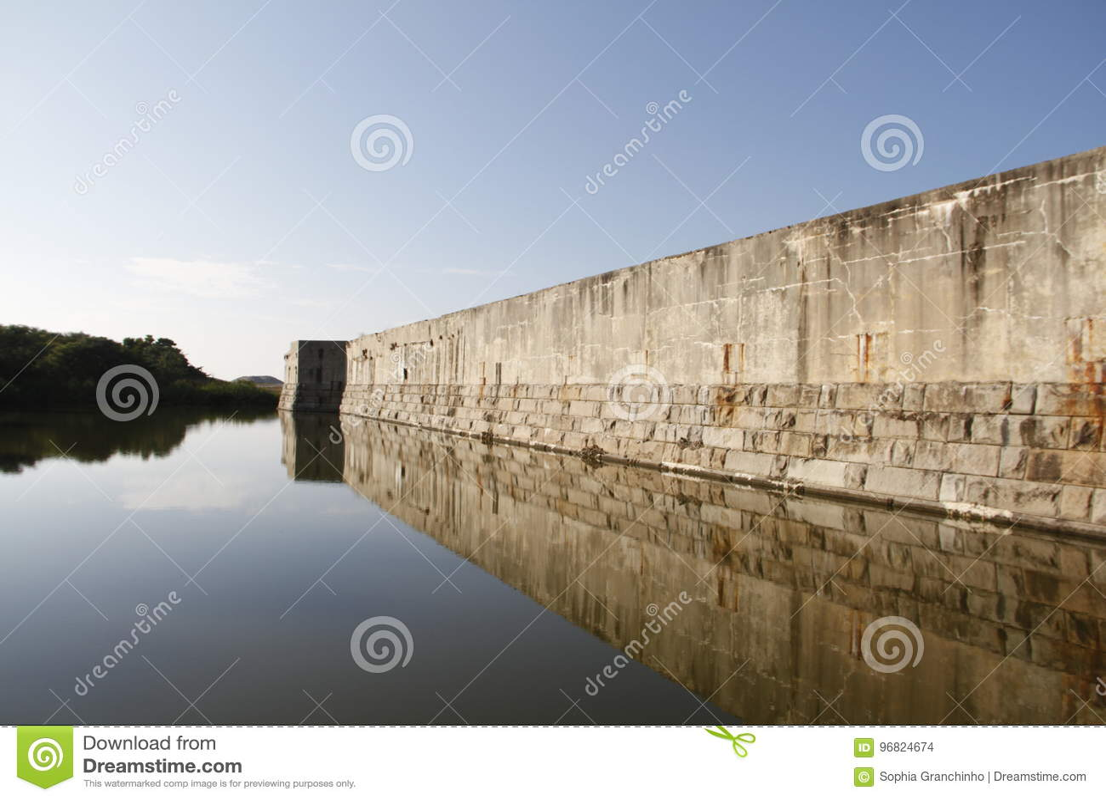 Fort Zachary Taylor Moat am nationalen historischen Nationalpark, Key West, Florida, USA