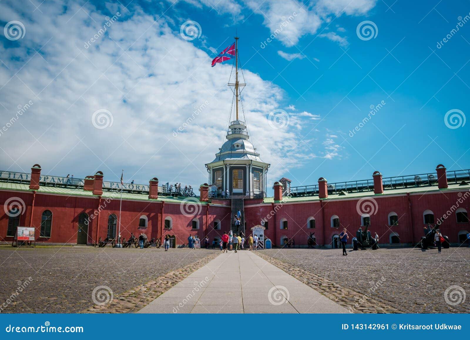 Fortaleza de Peter e de Paul em Peter e em Paul Fortress, St Petersburg, Rússia