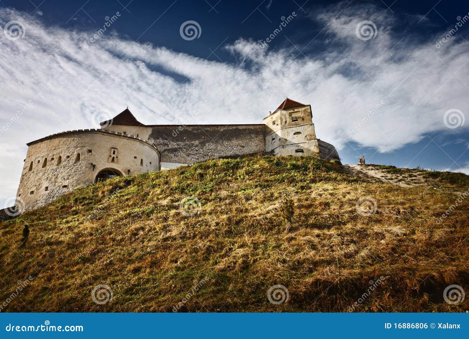 Fortaleza de Rasnov em Romania