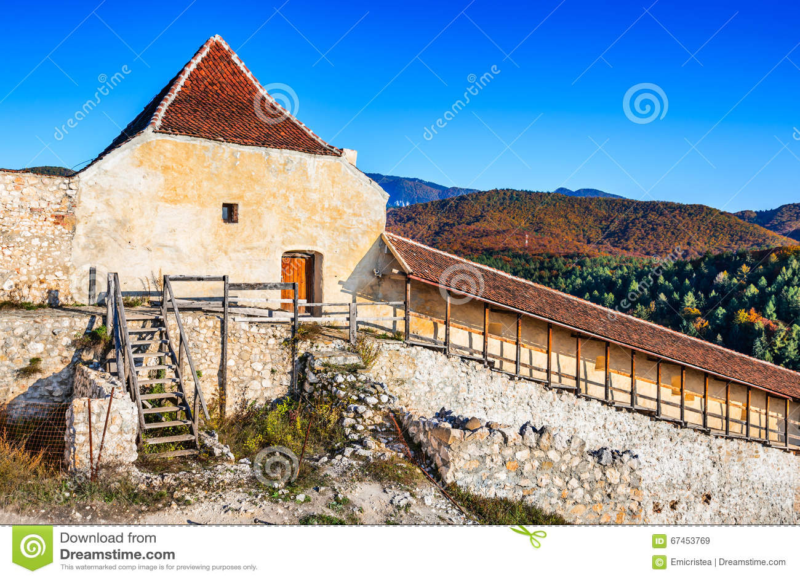 Fortaleza de Rasnov, Transilvania, Rumania