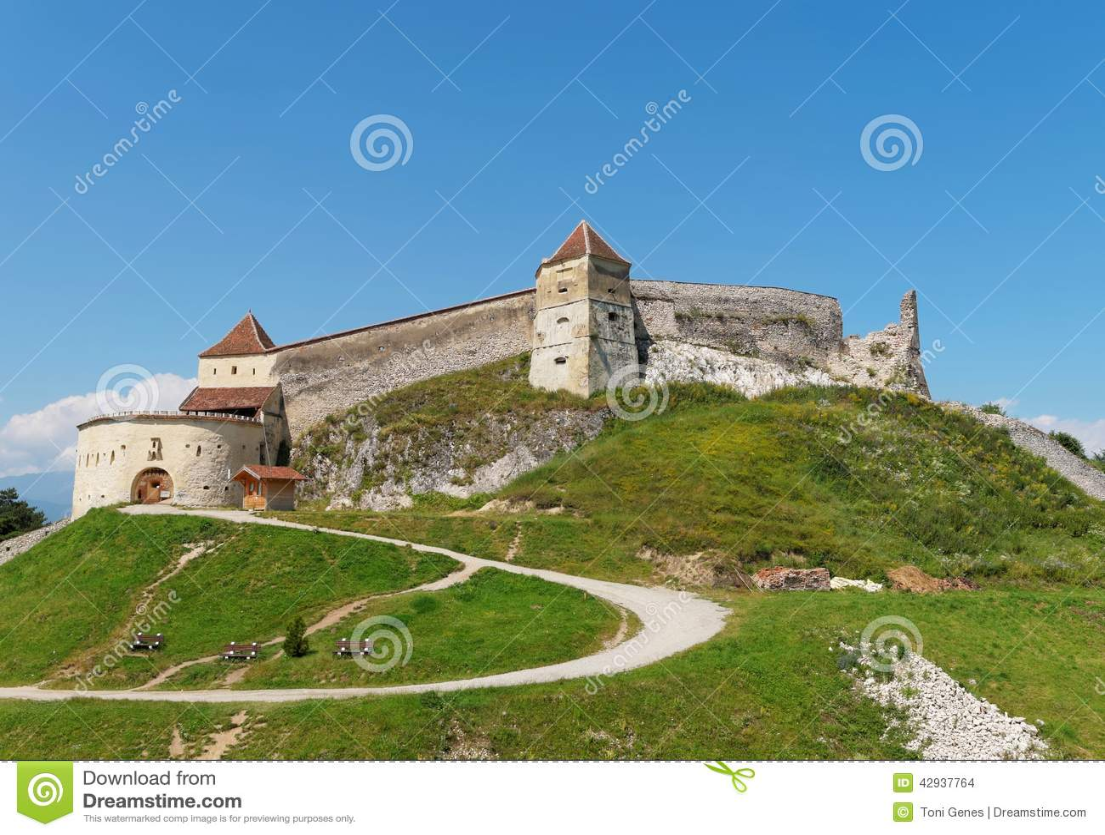Fortaleza medieval em Rasnov, Romênia