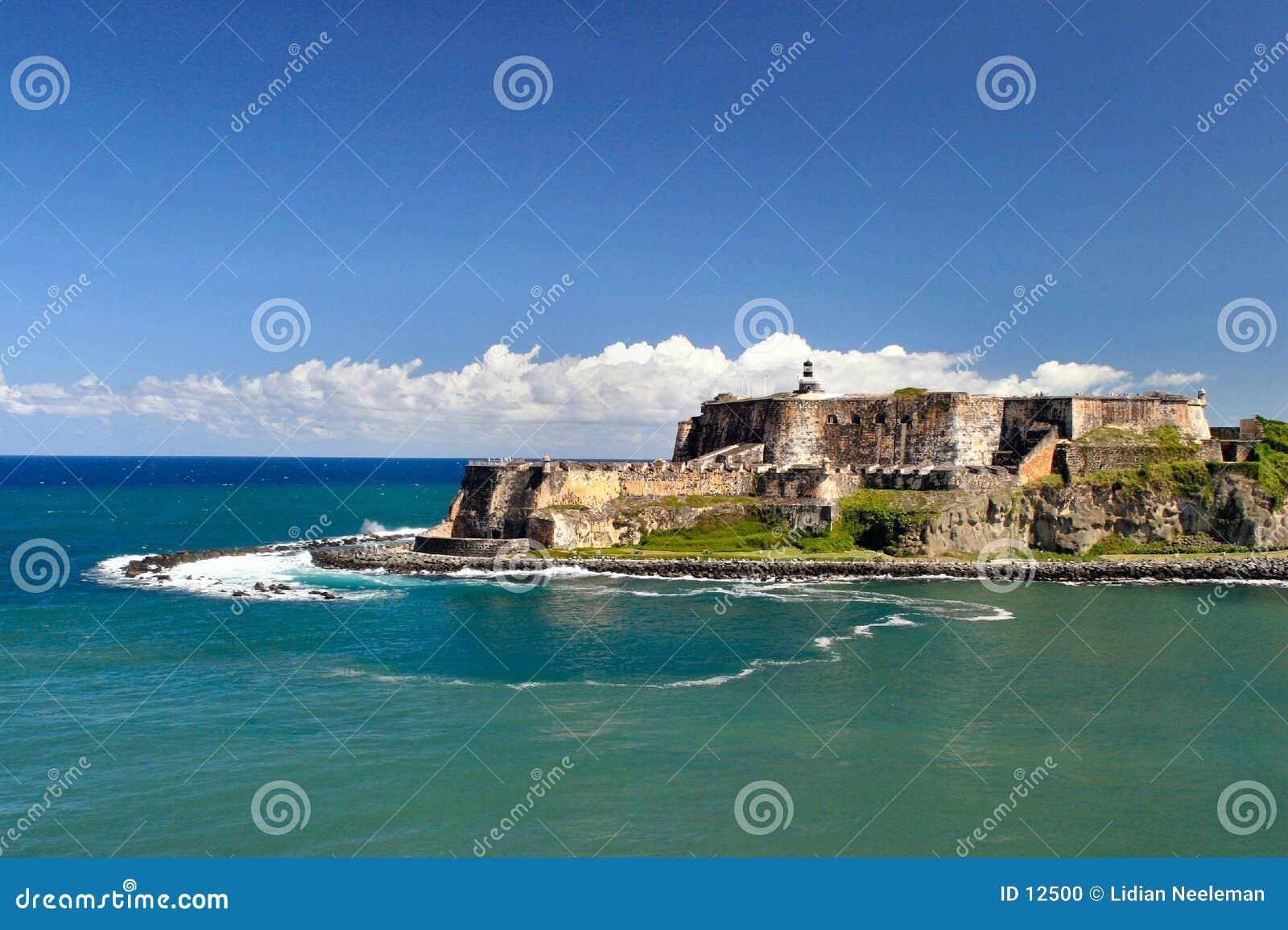 Forte do morro do EL em San Juan velho, Puerto Rico