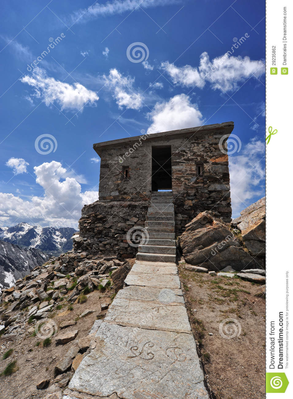 Download Forte Malamot foto de stock. Imagem de blockhouse, europeu - 29235862