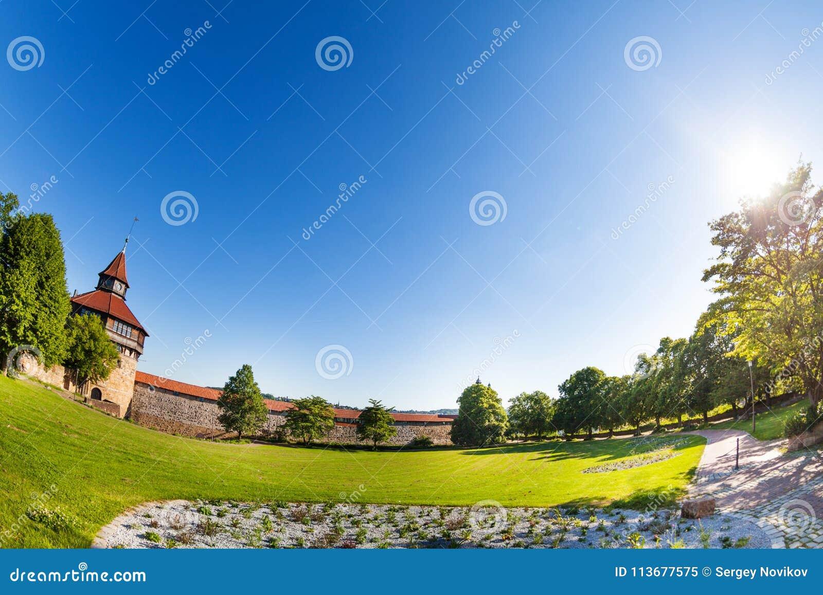 Forteresse de Burg d Esslingen avec la tour, Allemagne