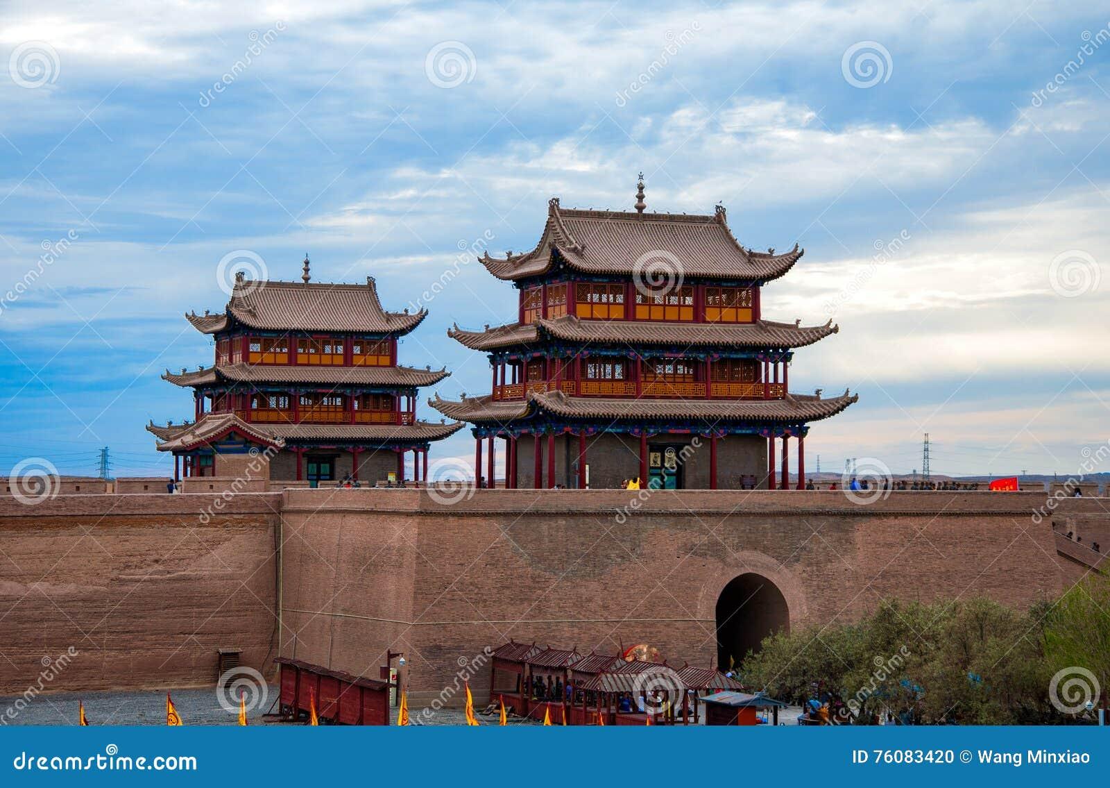 Forteresse de Jiayuguan en Chine