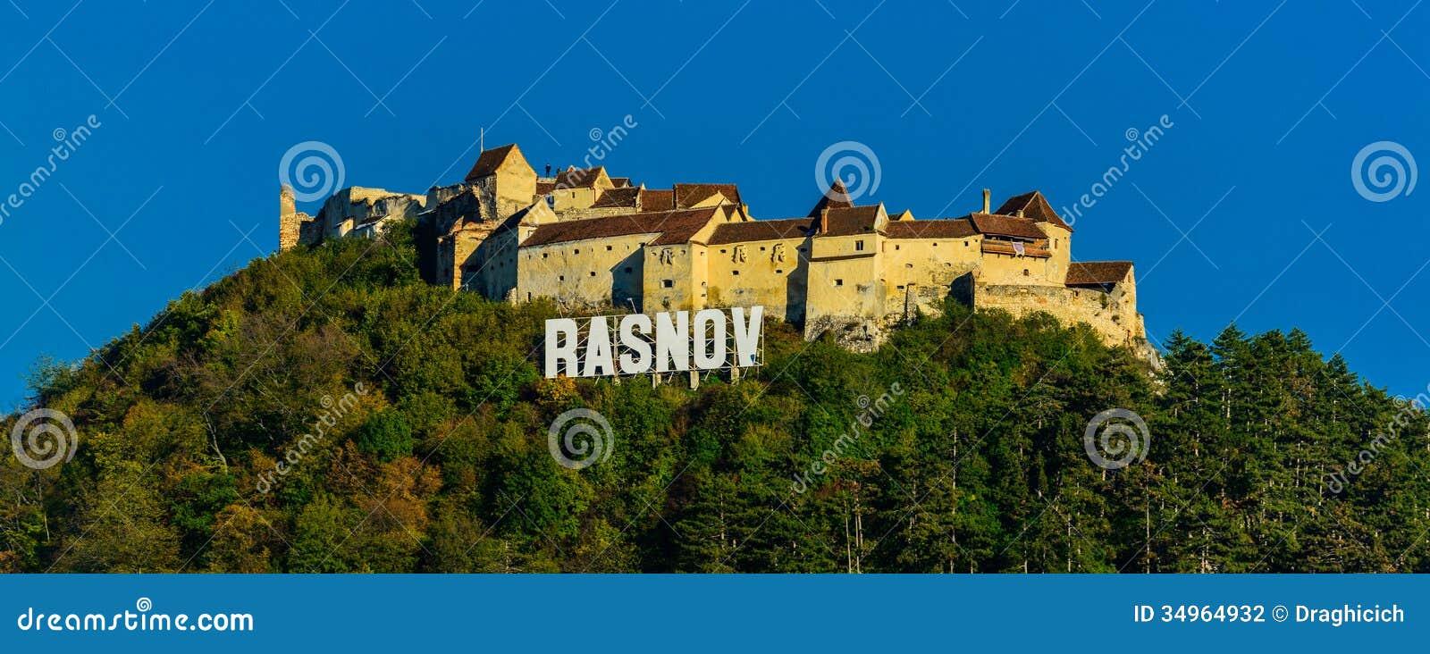 Forteresse de Rasnov dans le trasylvania