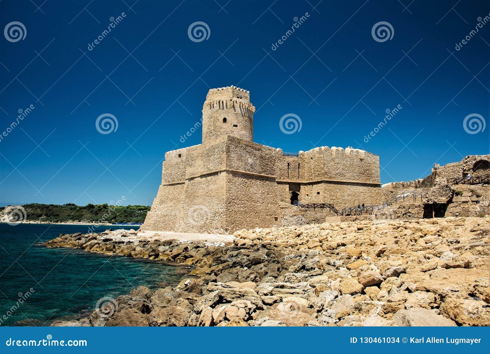 Fortezza Aragonese, Le Castella - Calabria - Italien Halvö torn