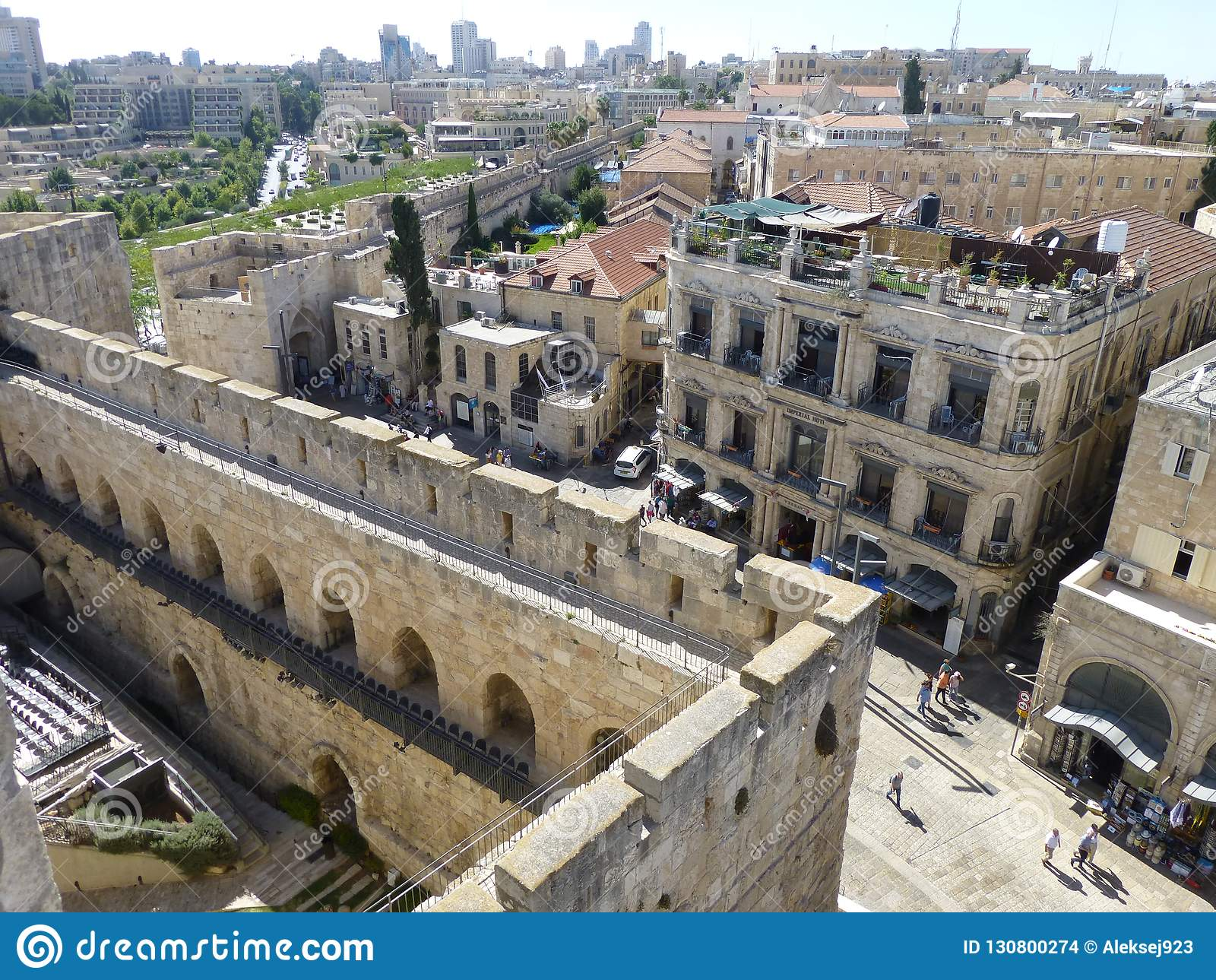 Fortezza ed uscita dalla vecchia città attraverso Giaffa Gatein, Gerusalemme