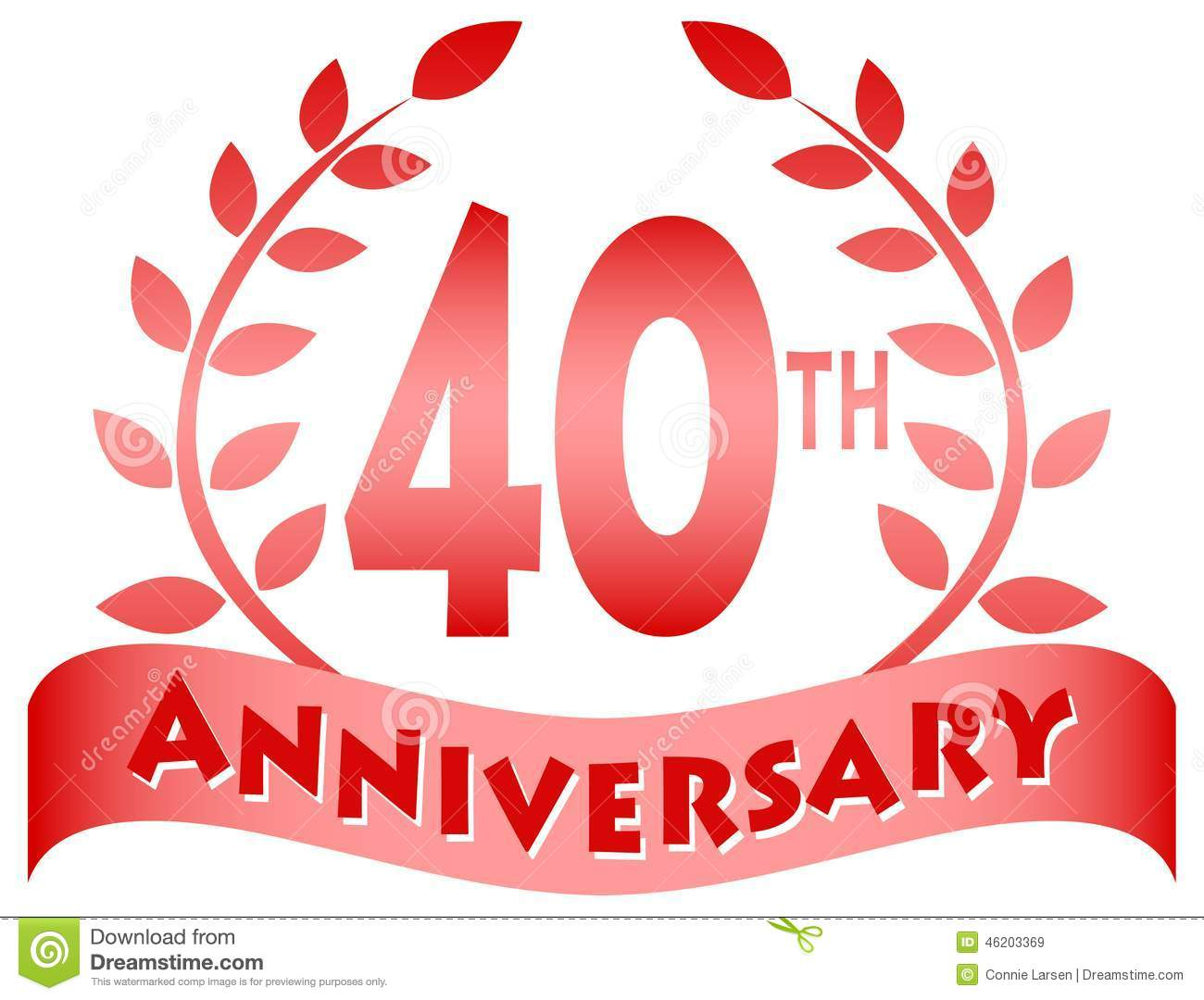 Logo for a 40th anniversary of a marriage or business...eps file ...