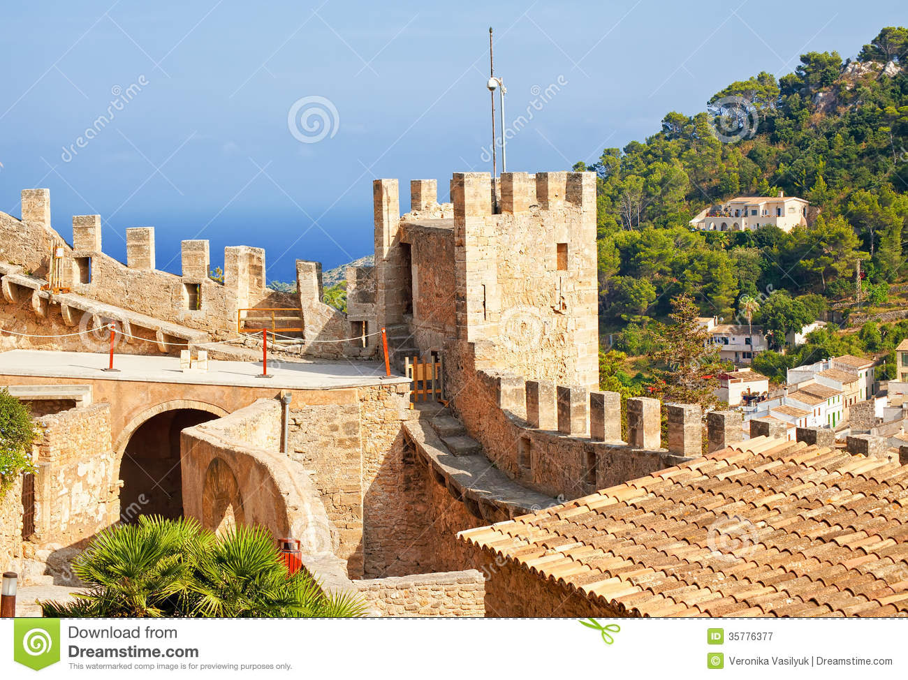 Fortification Of Capdepera Royalty Free Stock Photography