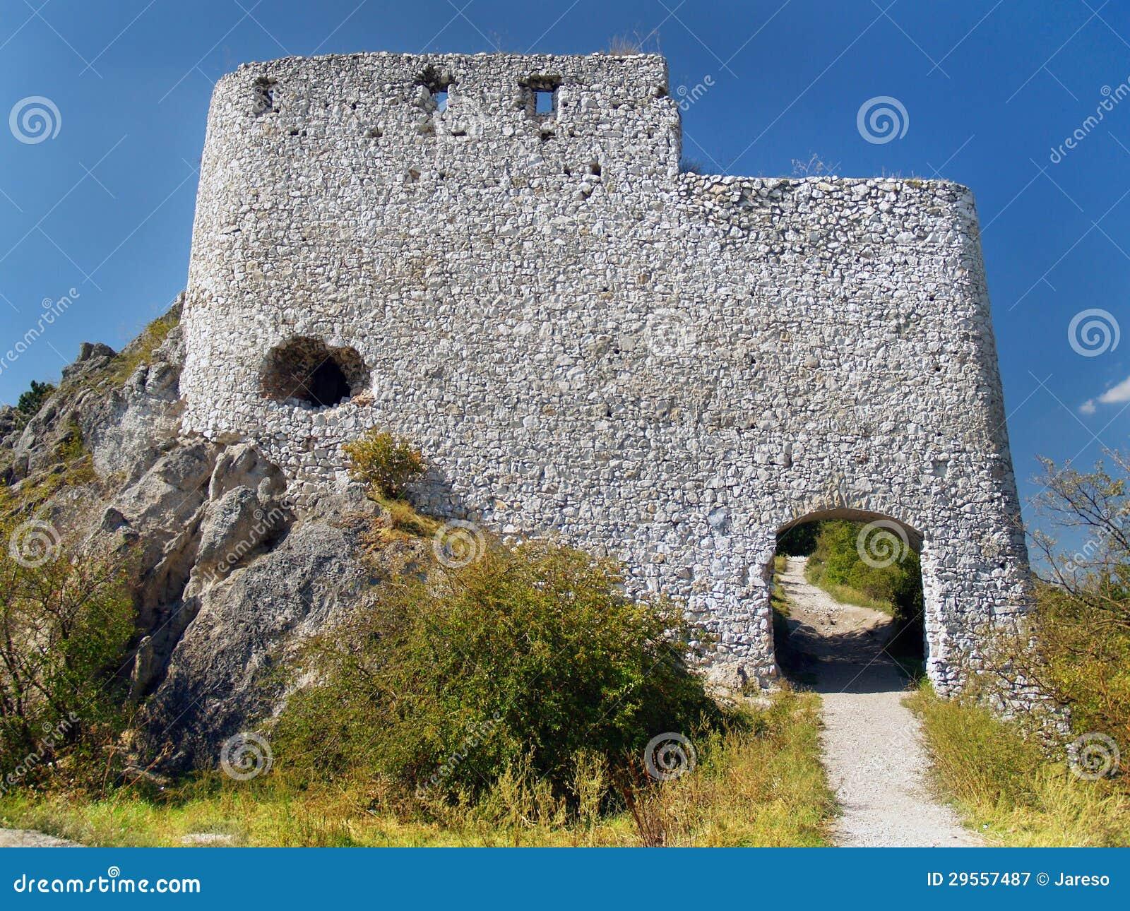Fortification da via principal do castelo de Cachtice