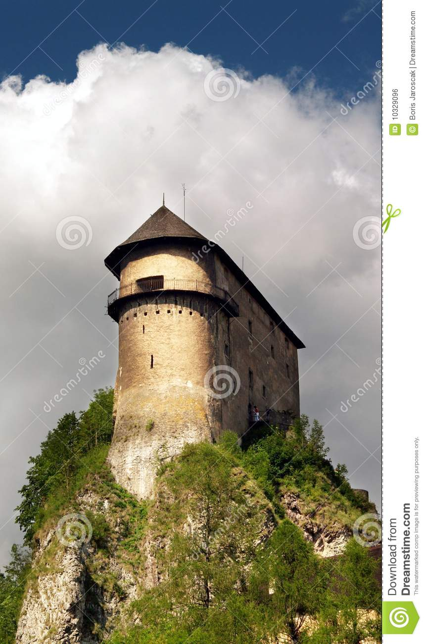 Fortification on the high rock - Orava Castle