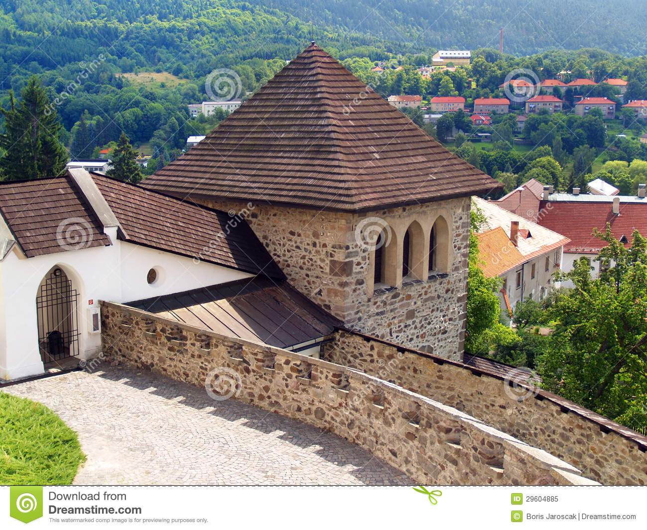 Fortification tower of the Castle of Kremnica