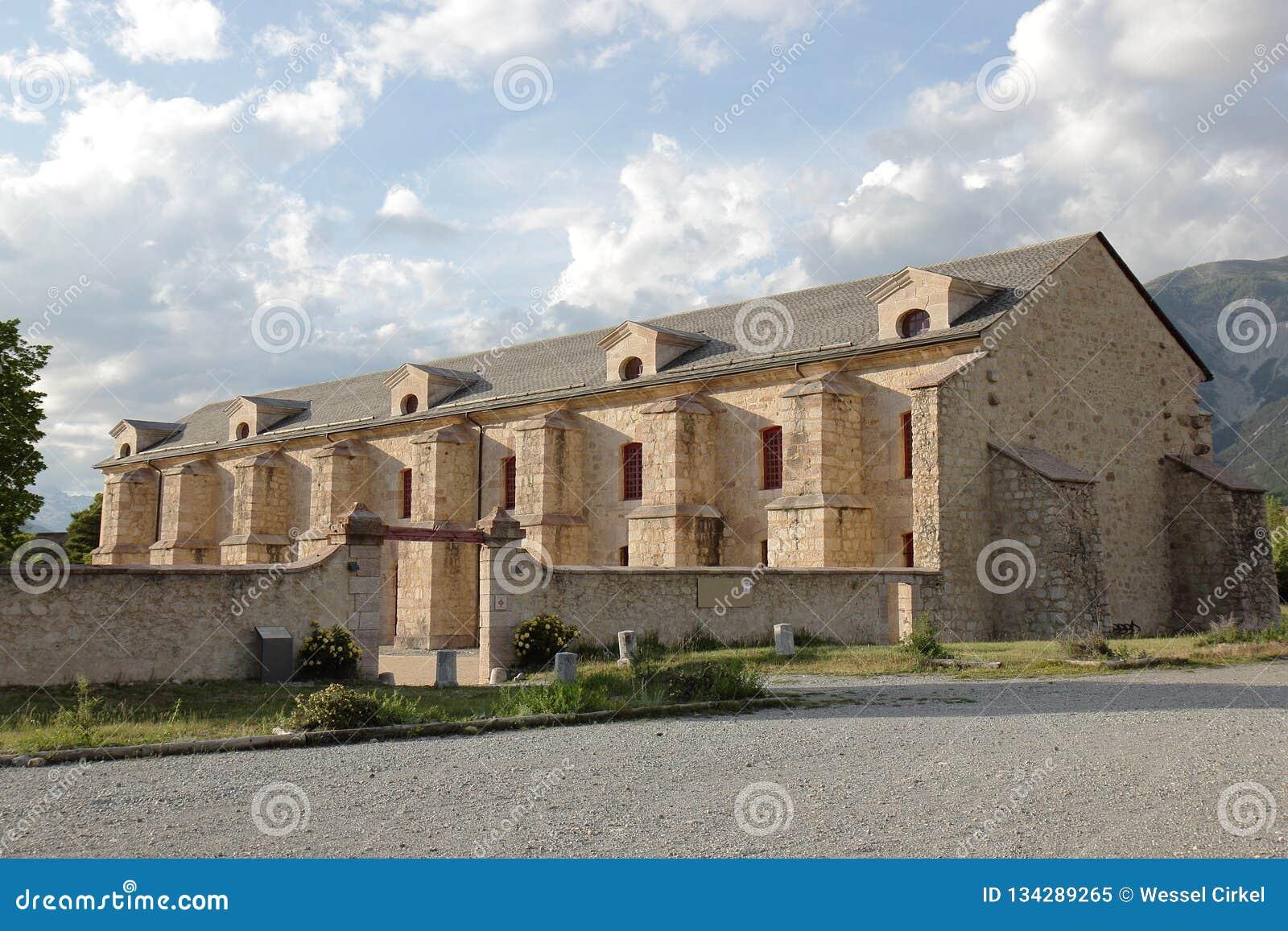 Fortificazione dell arsenale del Mont-delfino nelle Hautes-Alpes, Francia