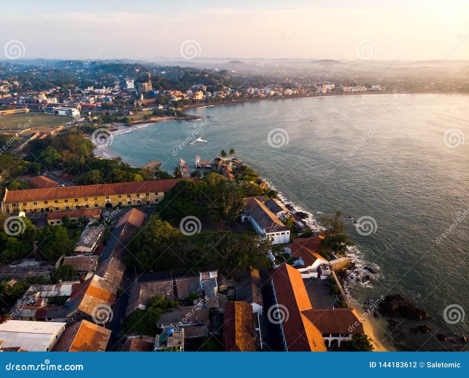 Fortificazione olandese di Galle nella città di Galle dell antenna dello Sri Lanka