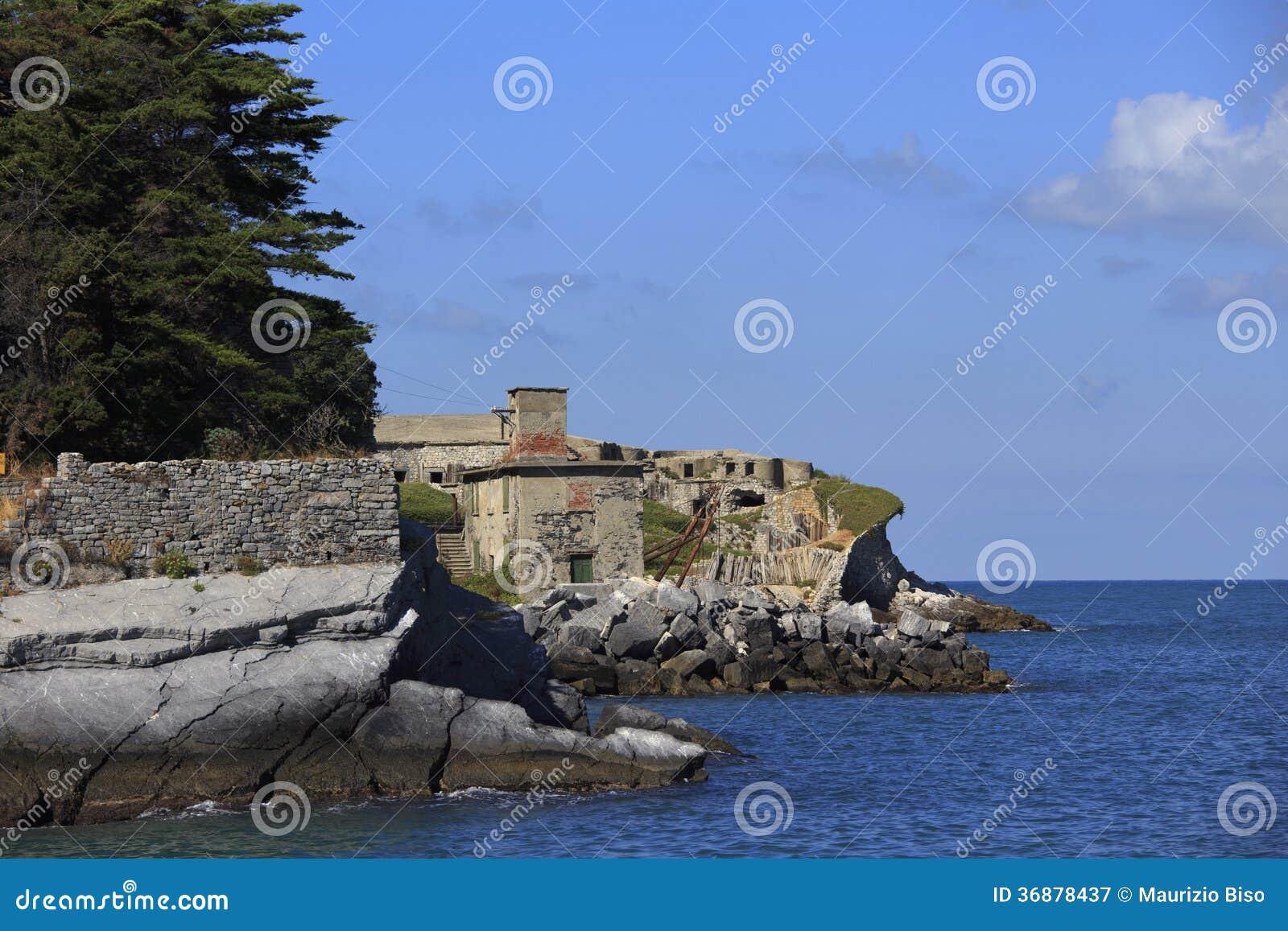 Download Fortificazione Sull'isola Di Tino Immagine Stock - Immagine di signore, peter: 36878437