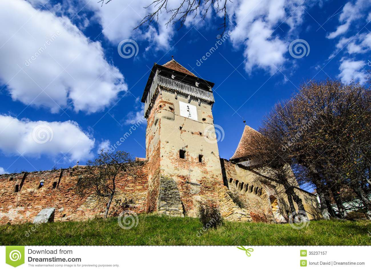 Fortified church of alma vii royalty free stock photography image 35237157 - Saxon style houses in transylvania ...