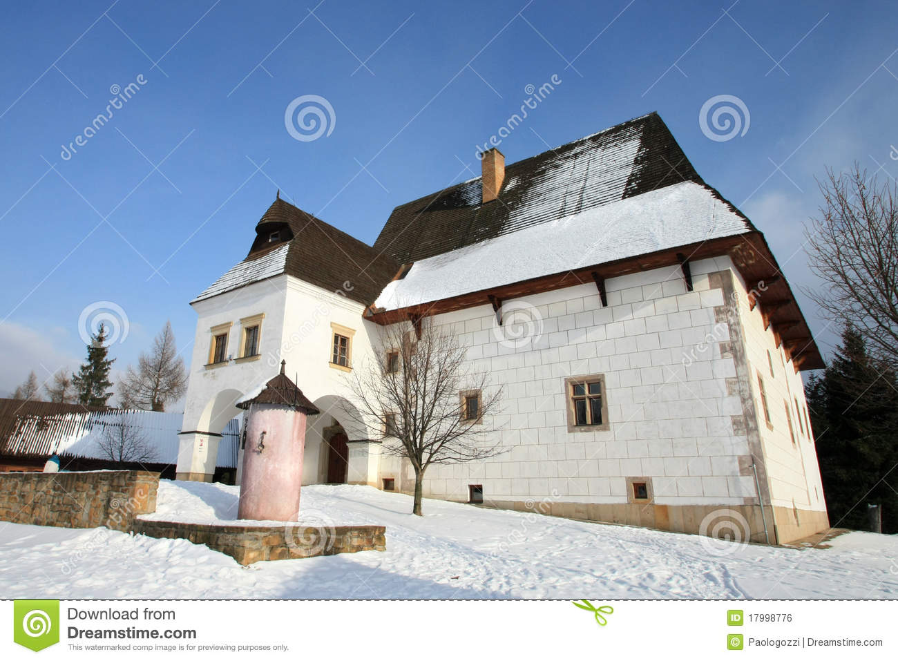 Fortified house of a rich farmer royalty free stock image for Fortified house plans