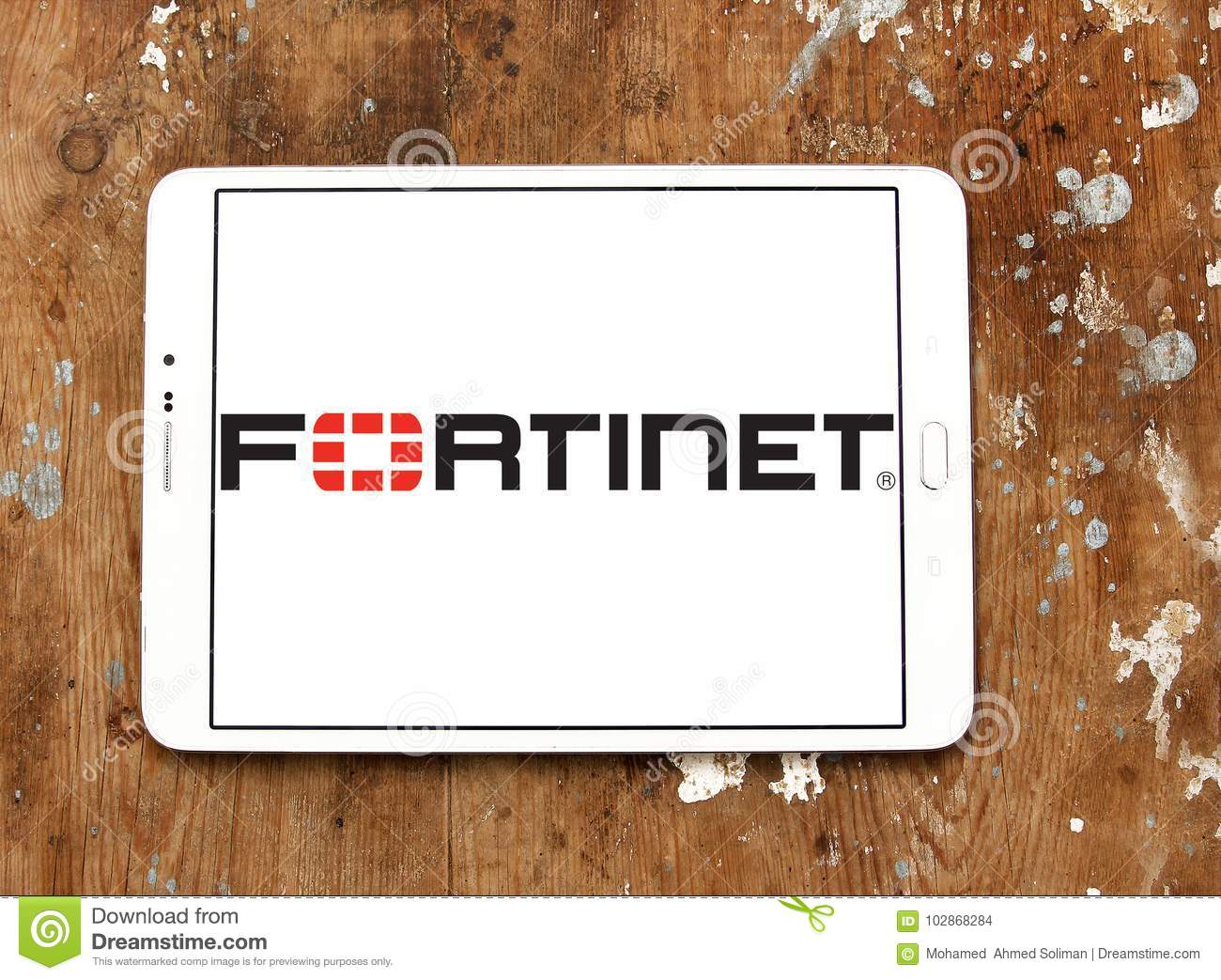 Fortinet company logo editorial stock image  Image of