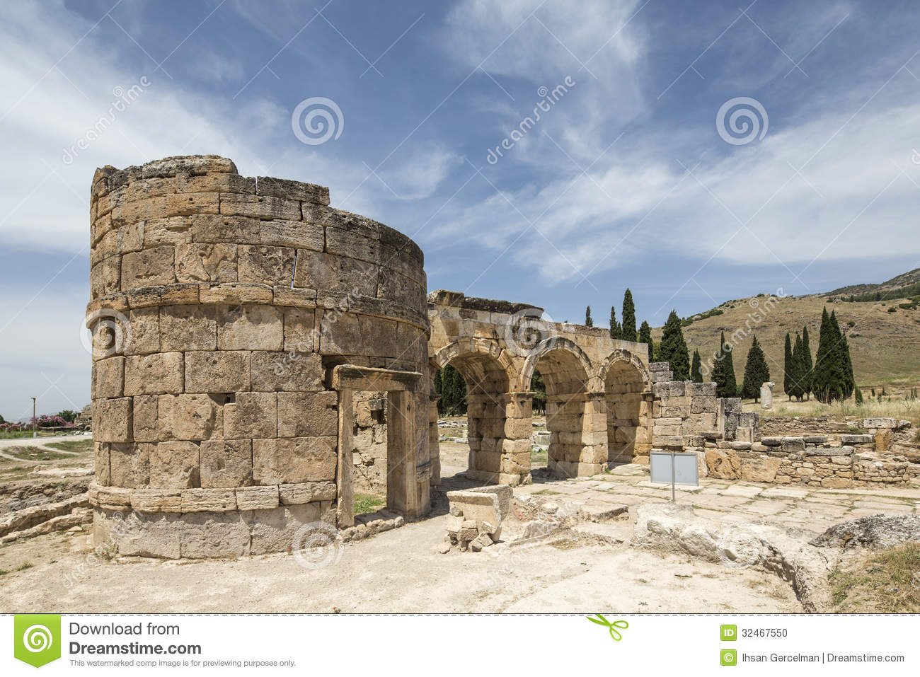 Denizli Turkey  City new picture : The Fortinus Gate in Hierapolis, Denizli, Turkey. Hierapolis was an ...