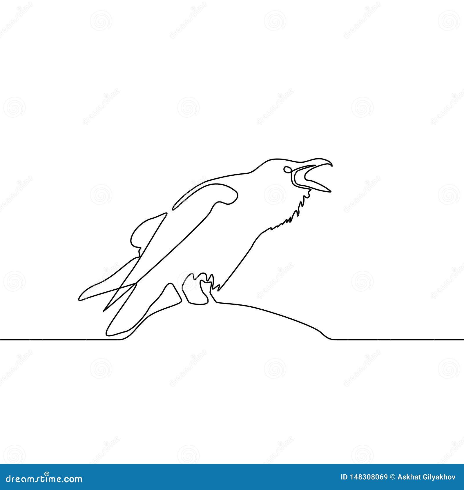 Fortlöpande linje korpsvart teckning Logo Concept ocks? vektor f?r coreldrawillustration