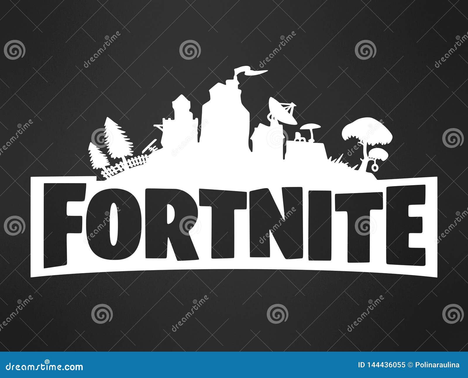 Black And White Fortnite Background