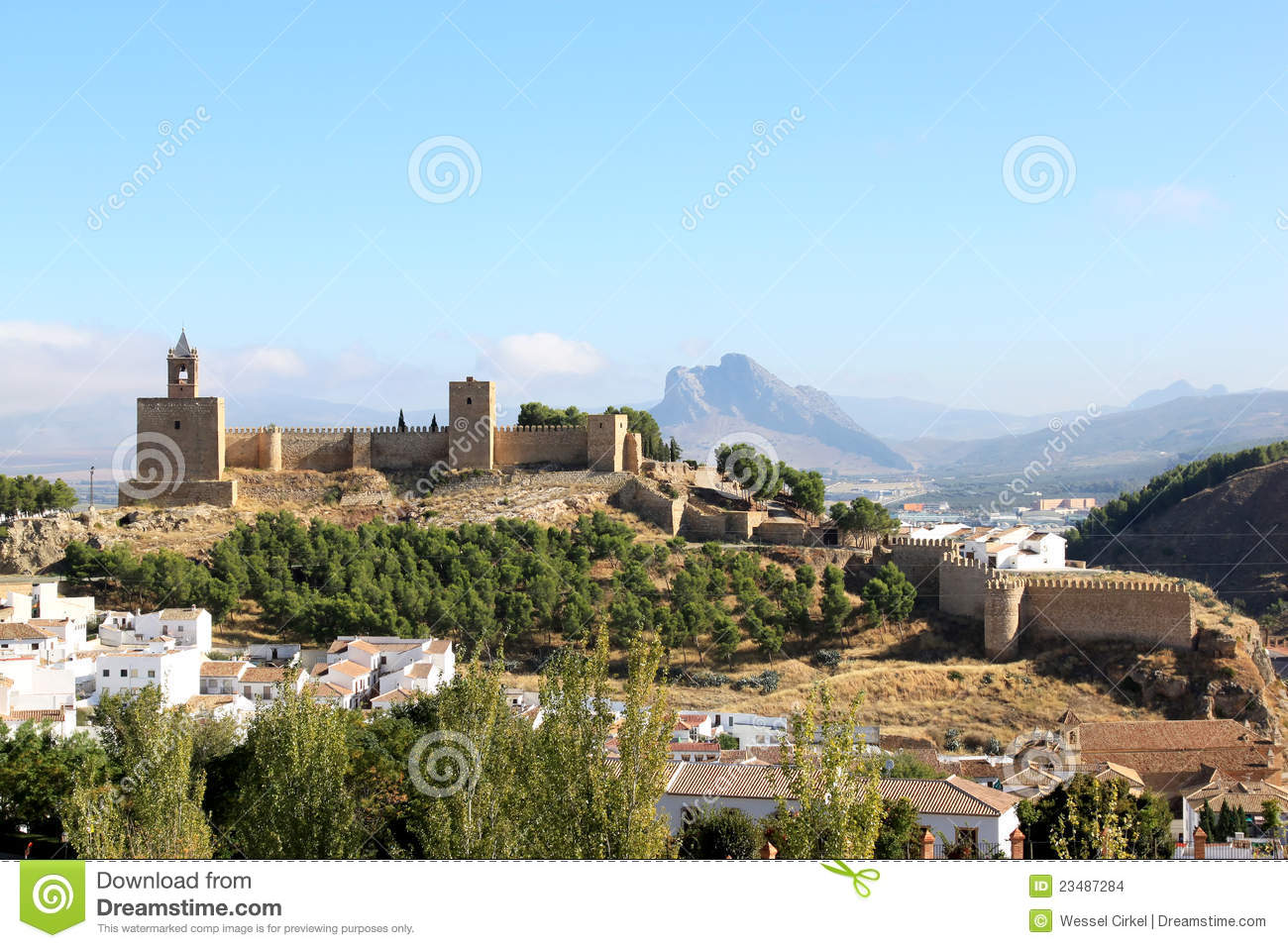 Fortress The Alcazaba Of Antequera Spain Stock Images